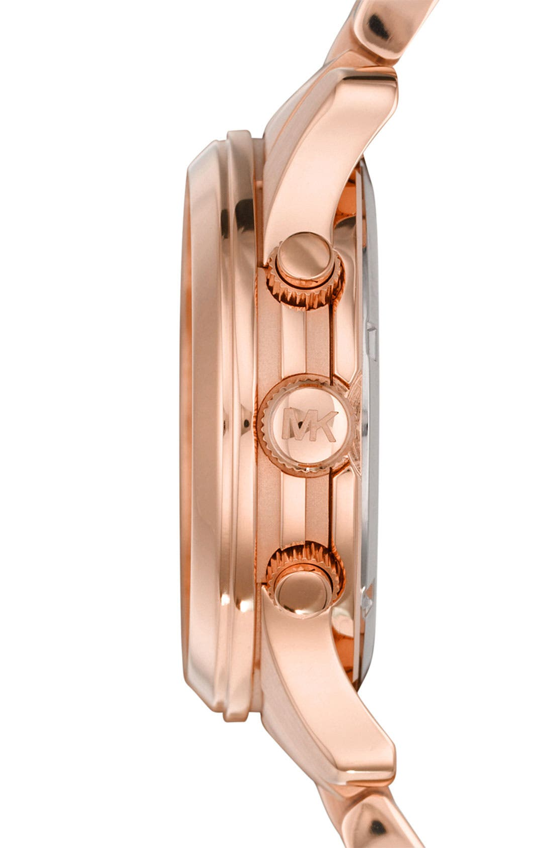 MICHAEL MICHAEL KORS,                             Michael Kors 'Runway' Rose Gold Plated Watch, 37mm,                             Alternate thumbnail 6, color,                             710