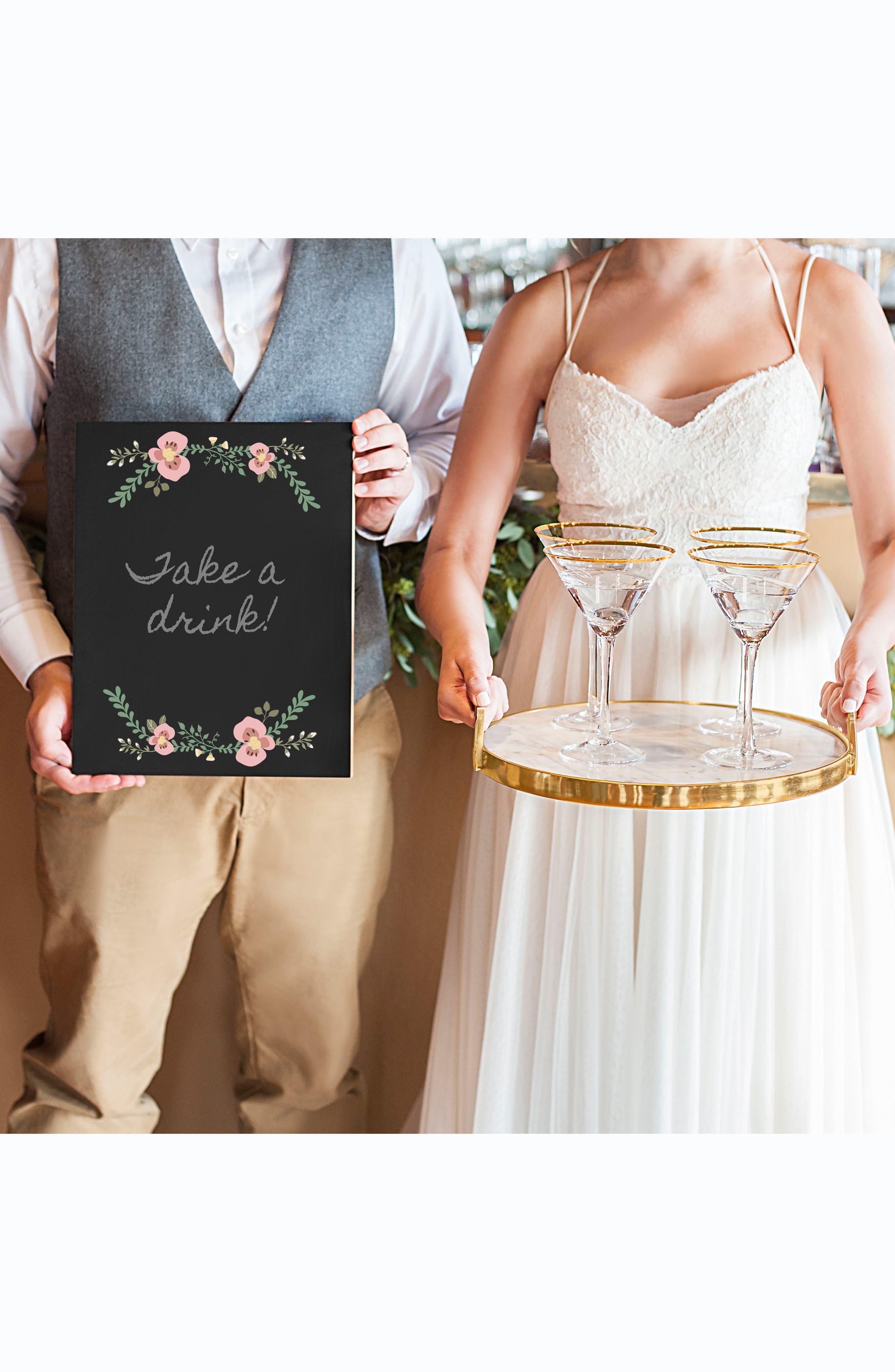 Wedding Chalkboard,                             Alternate thumbnail 7, color,                             001