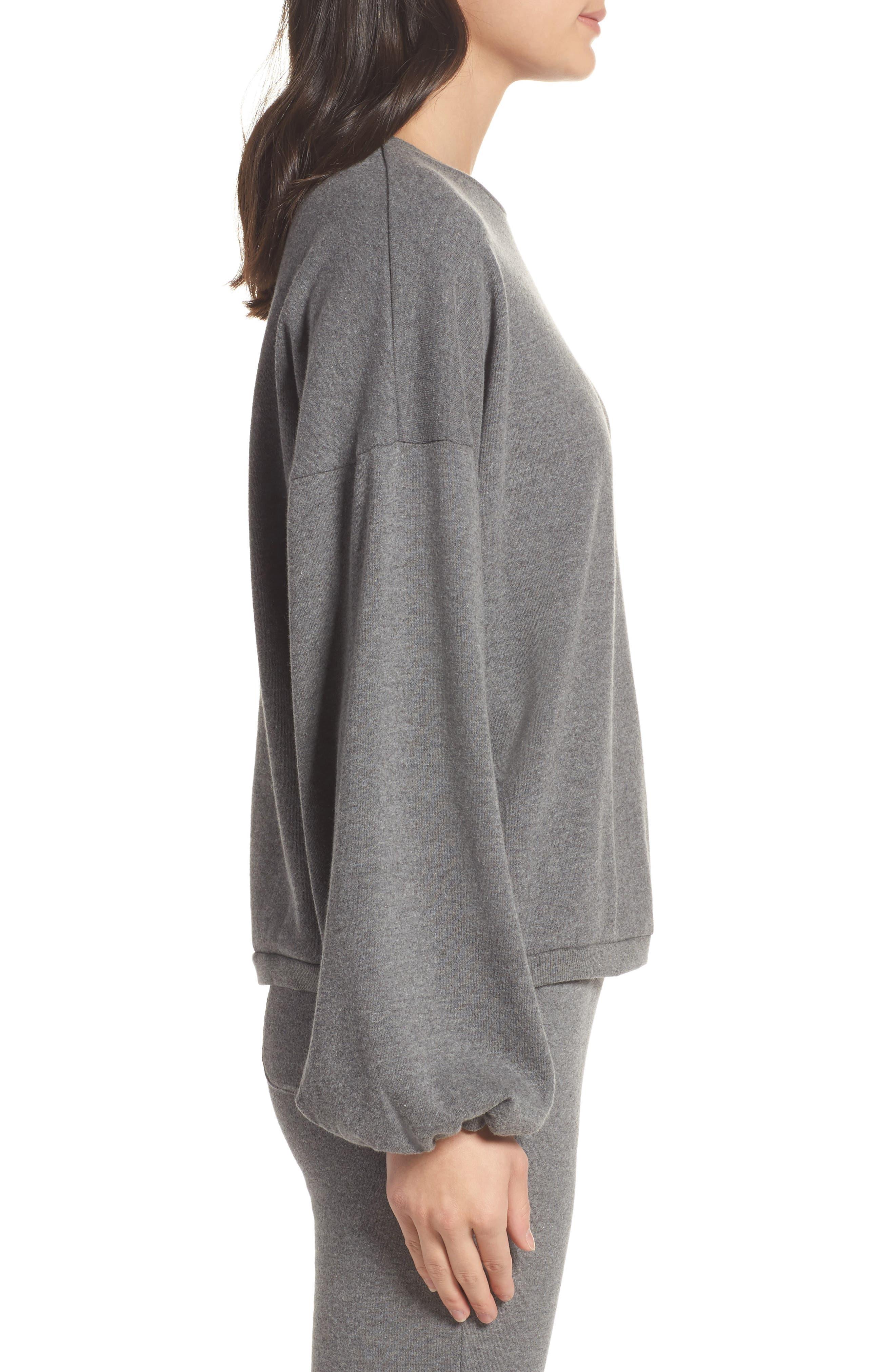 Puff Sleeve Sweatshirt,                             Alternate thumbnail 3, color,                             020