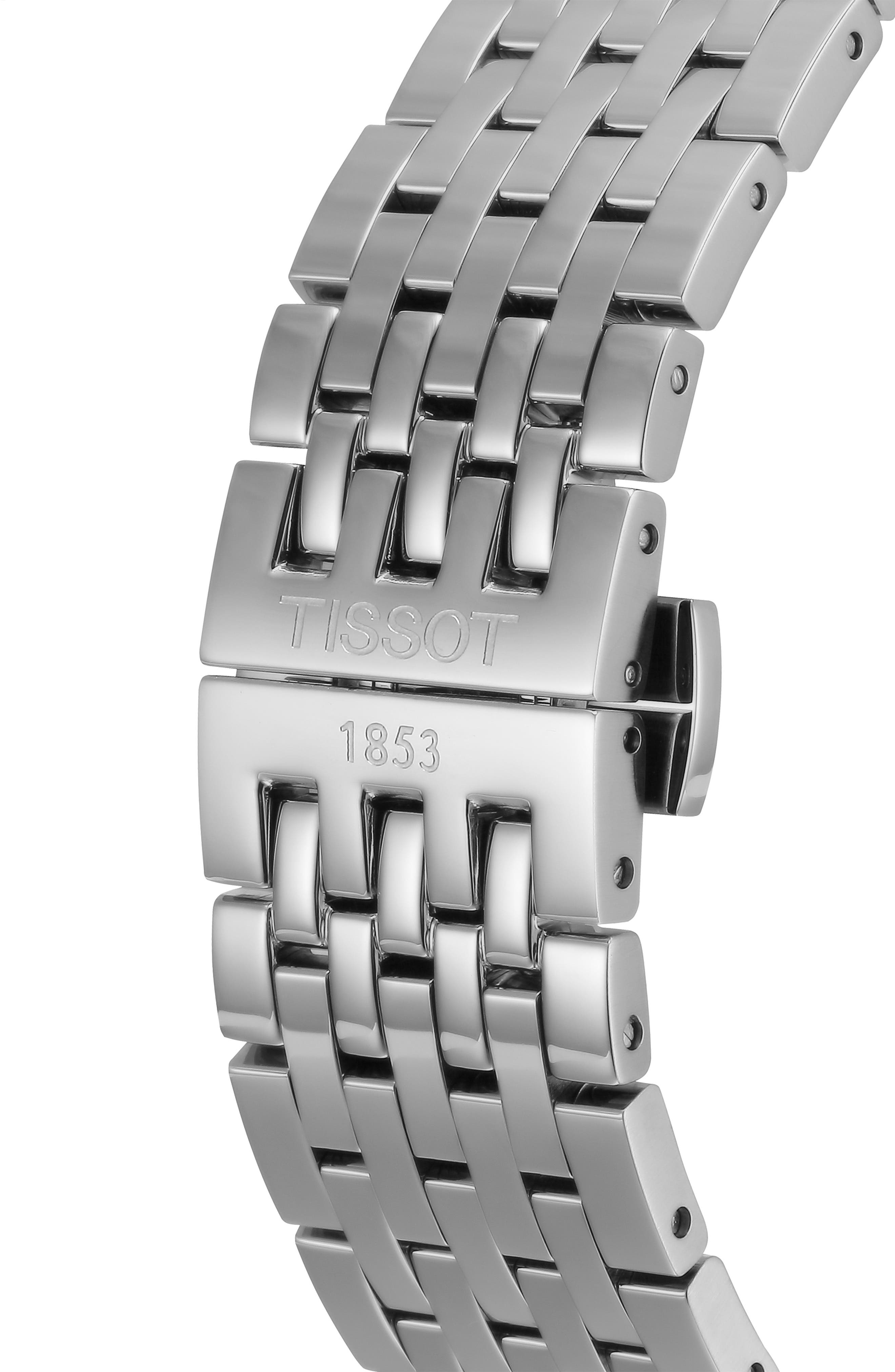Tradition Bracelet Watch, 42mm,                             Alternate thumbnail 4, color,                             SILVER/ GREY/ SILVER