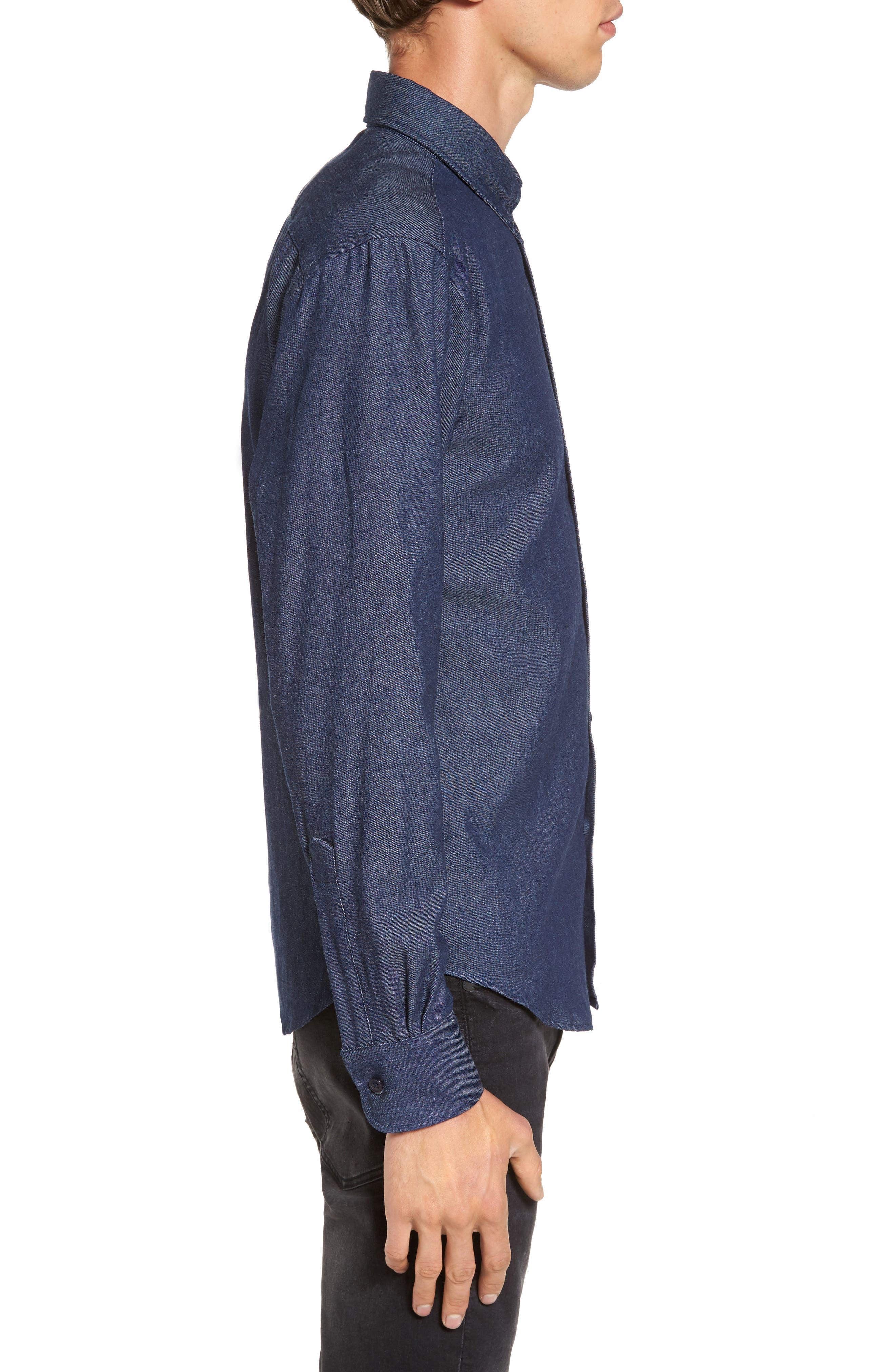 Indigo Long Sleeve Shirt,                             Alternate thumbnail 3, color,                             401