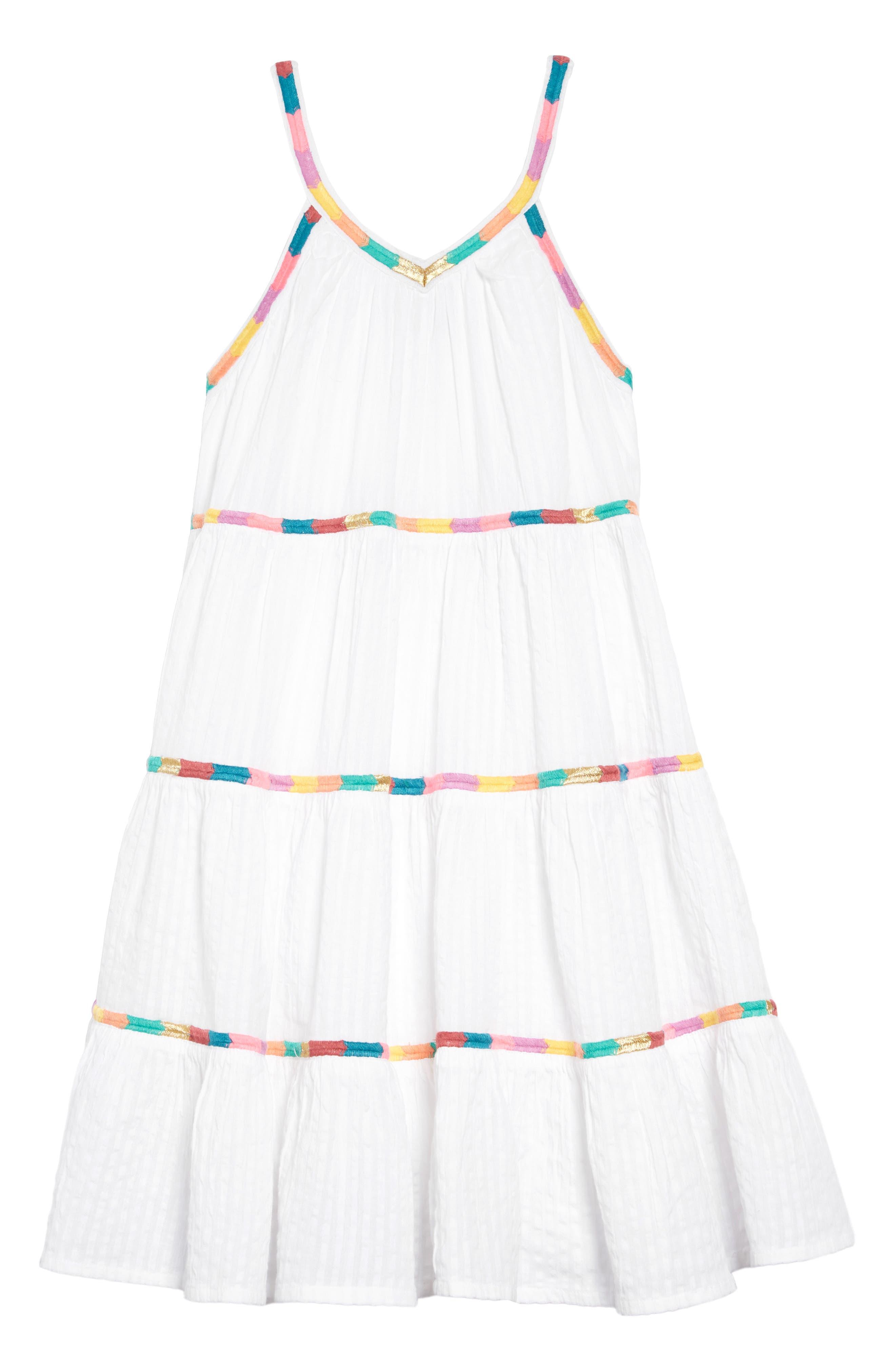 PEEK AREN'T YOU CURIOUS,                             Sarafina Dress,                             Main thumbnail 1, color,                             WHITE