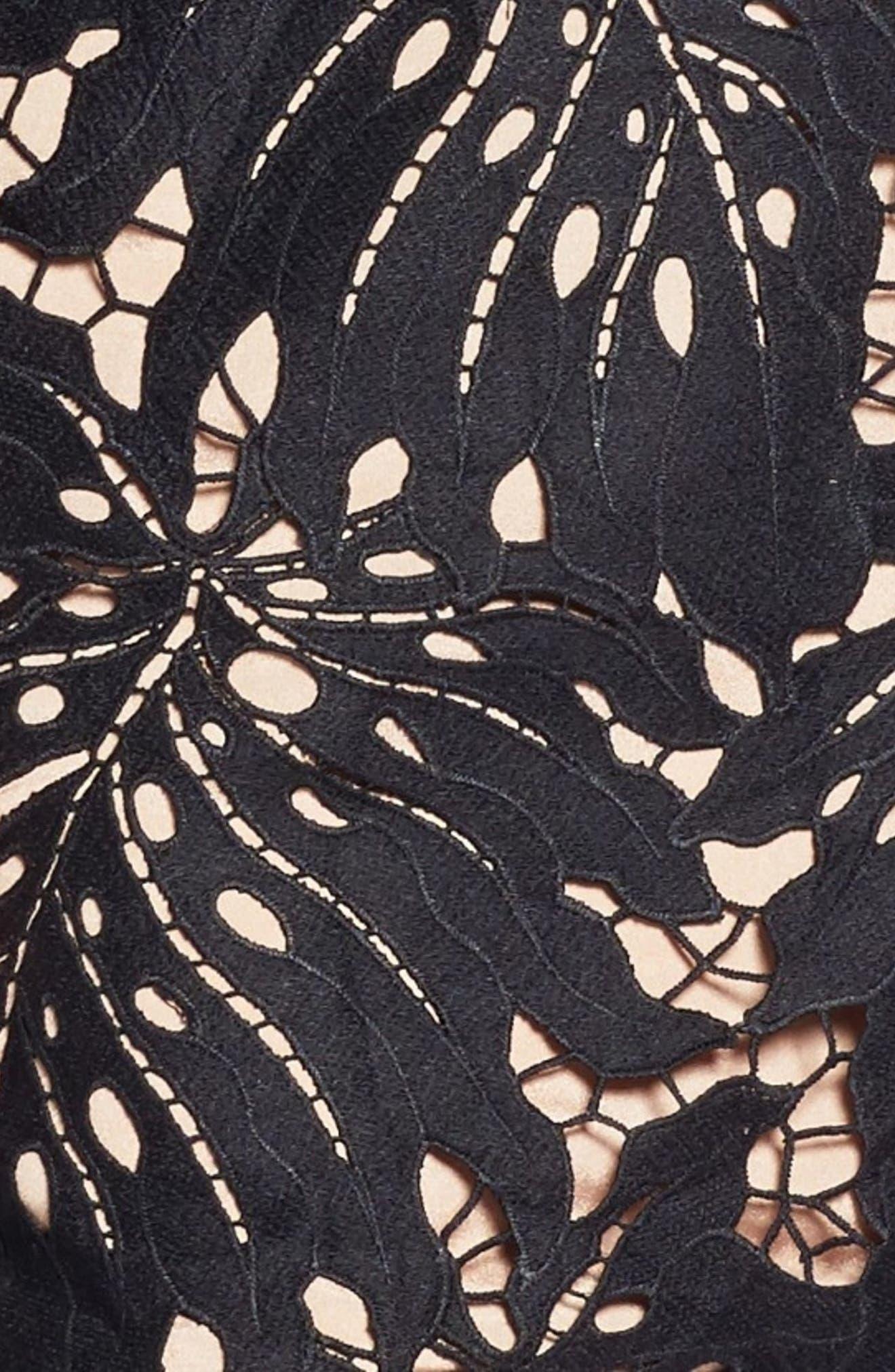 Dylan Crochet Shift Dress,                             Alternate thumbnail 3, color,                             001