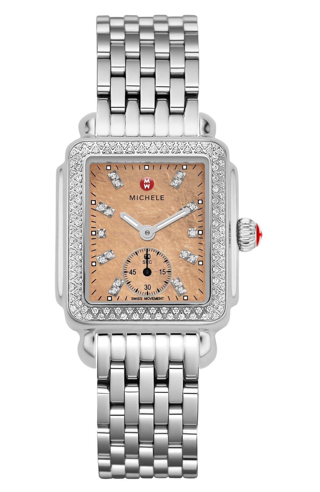 Deco 16 16mm Bracelet Watchband,                             Alternate thumbnail 7, color,                             SILVER