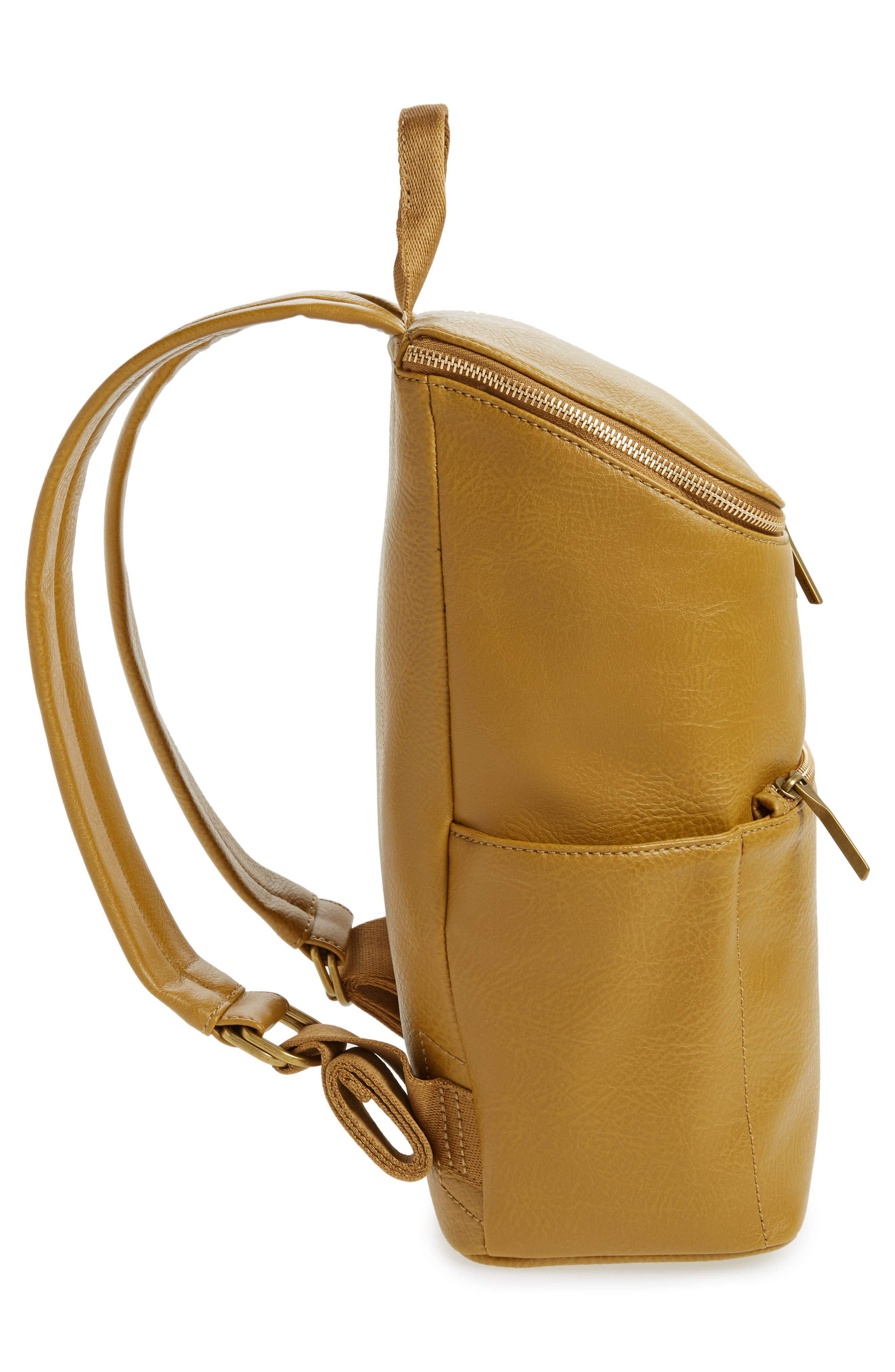 'Brave' Faux Leather Backpack,                             Alternate thumbnail 62, color,