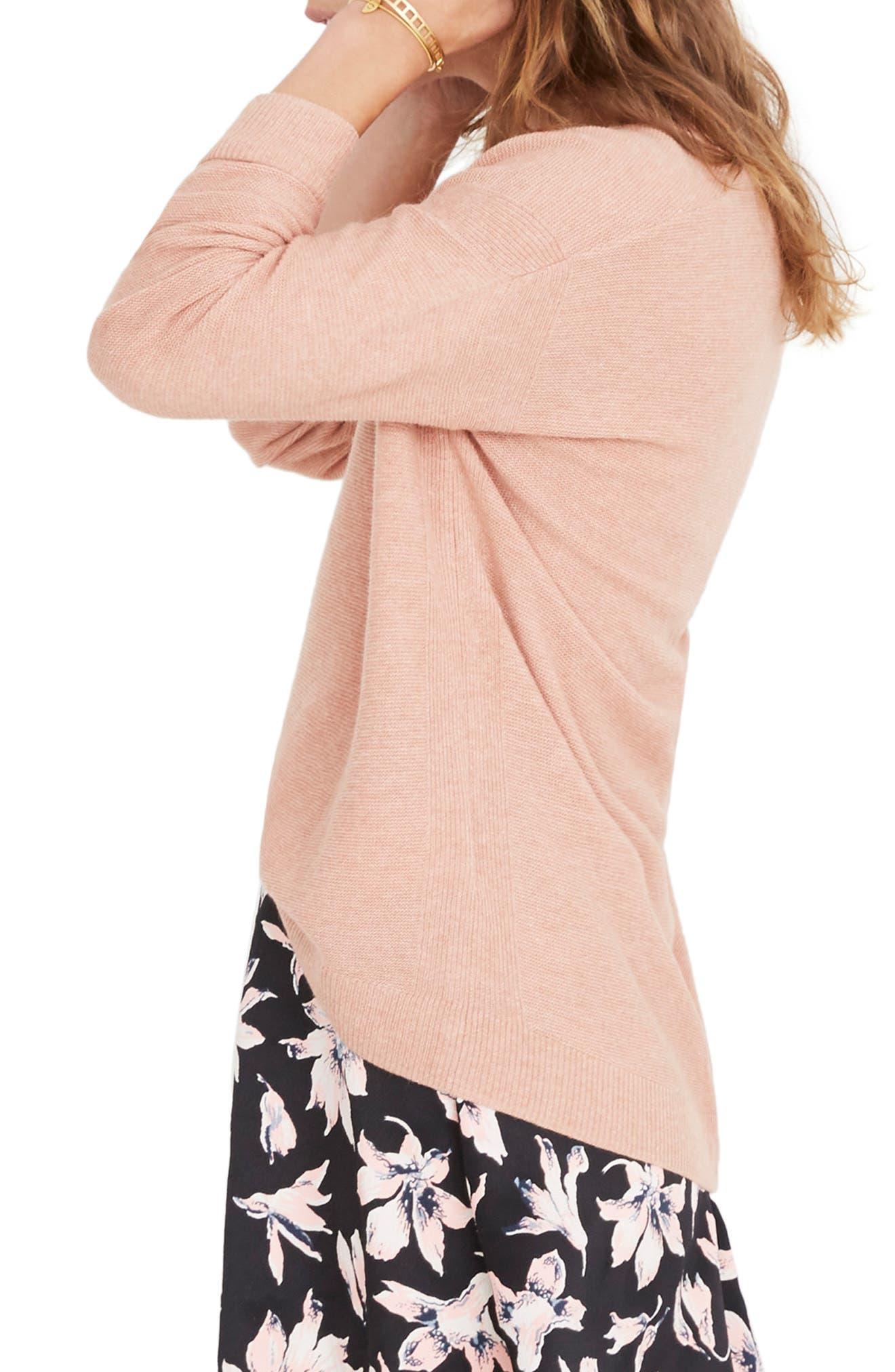 Kimball Sweater,                             Alternate thumbnail 3, color,                             HEATHER ROSE