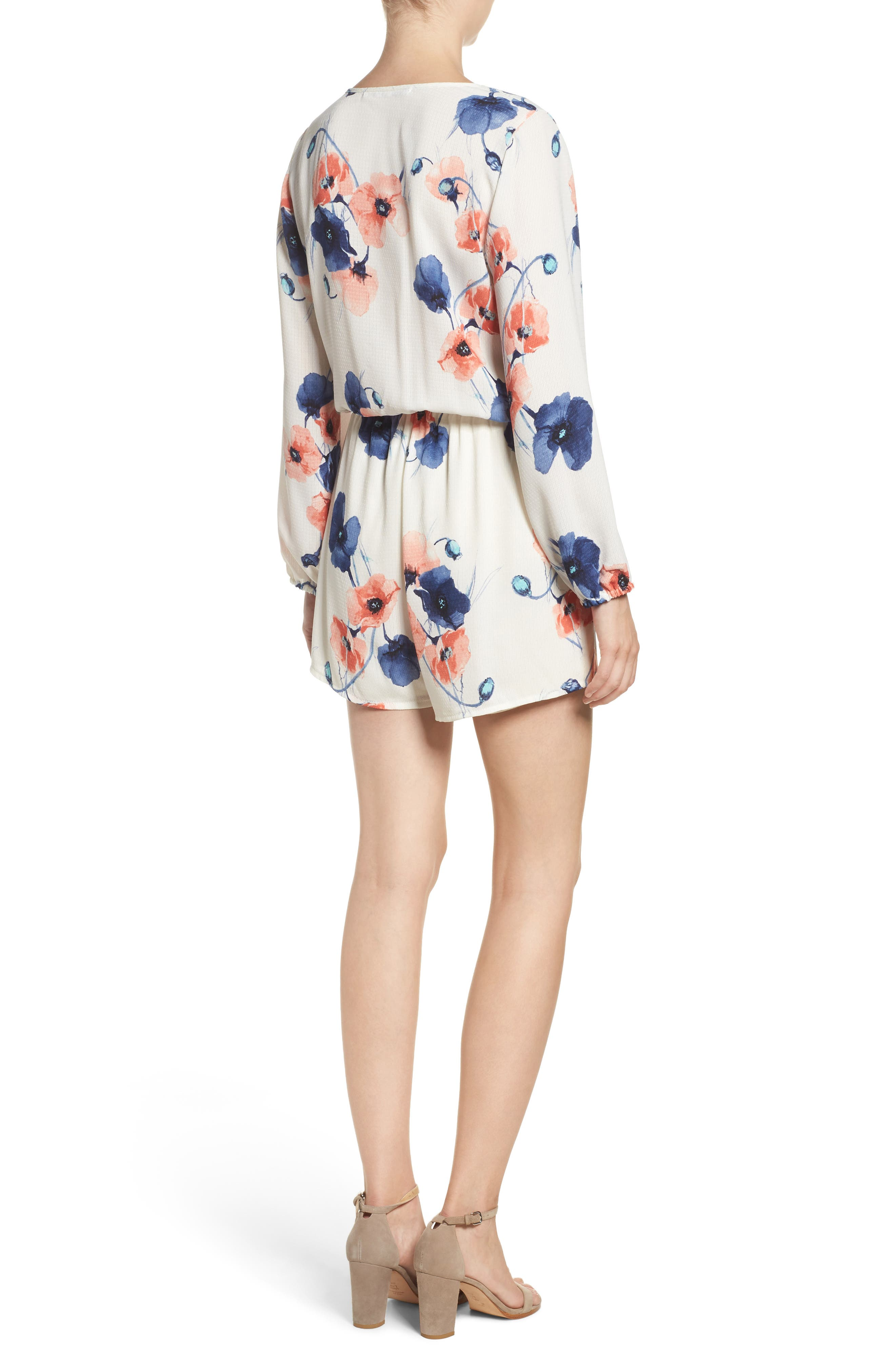Floral Romper,                             Alternate thumbnail 3, color,