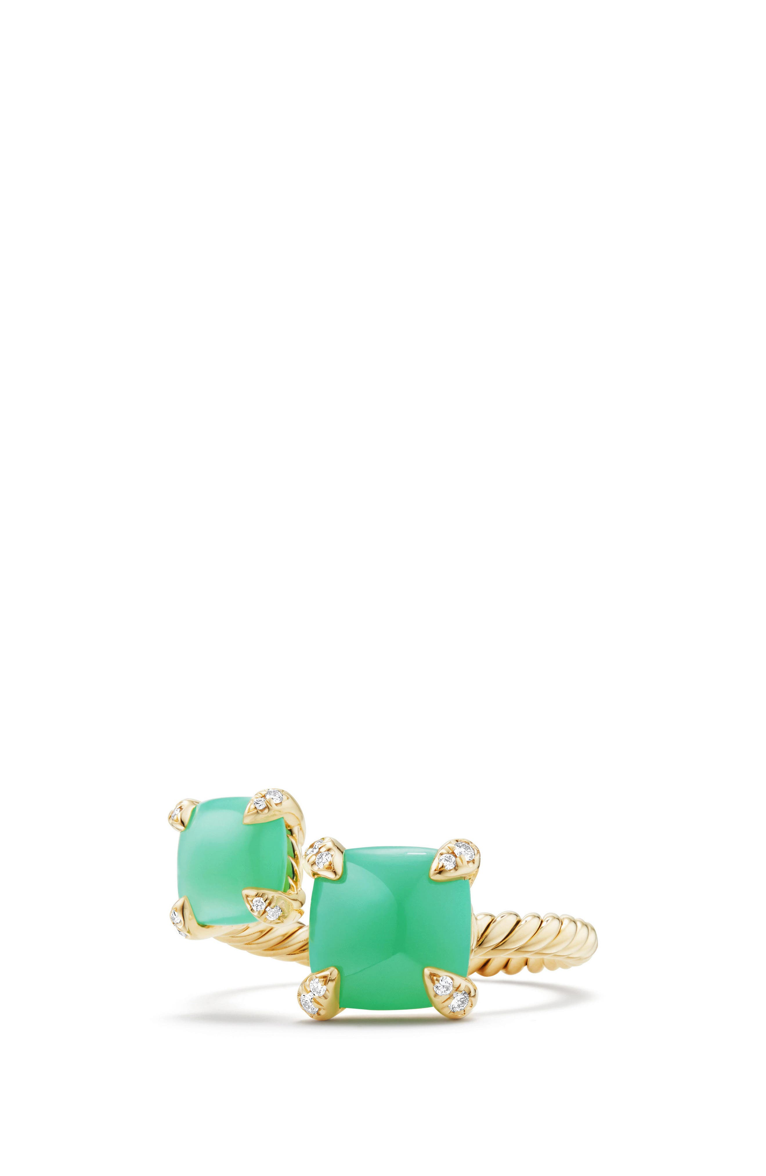 Chatelaine Bypass Diamond Ring,                         Main,                         color, CHRYSOPRASE