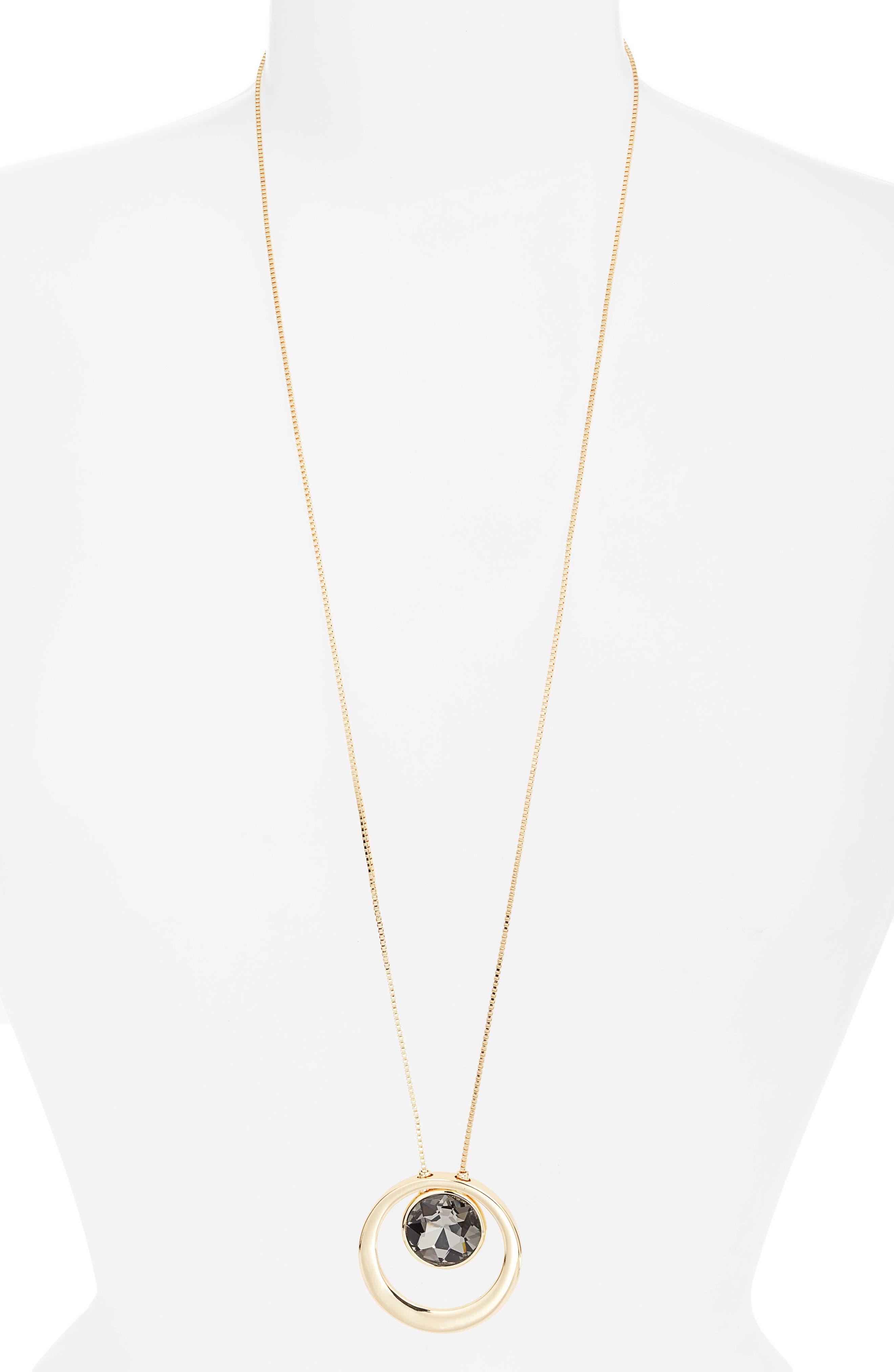 Long Pendant Necklace,                         Main,                         color, 001