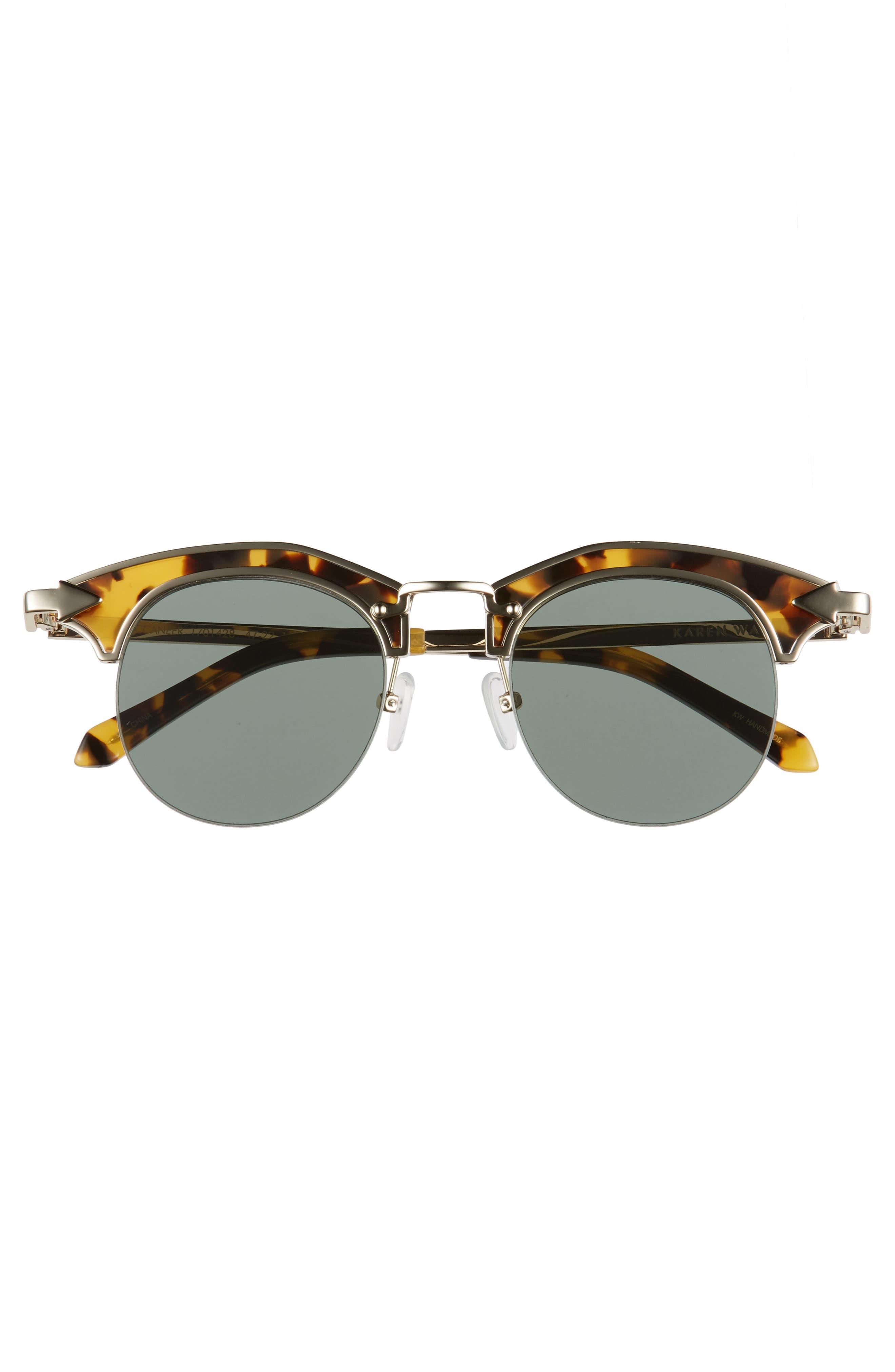 Buccaneer 47mm Round Sunglasses,                             Alternate thumbnail 8, color,
