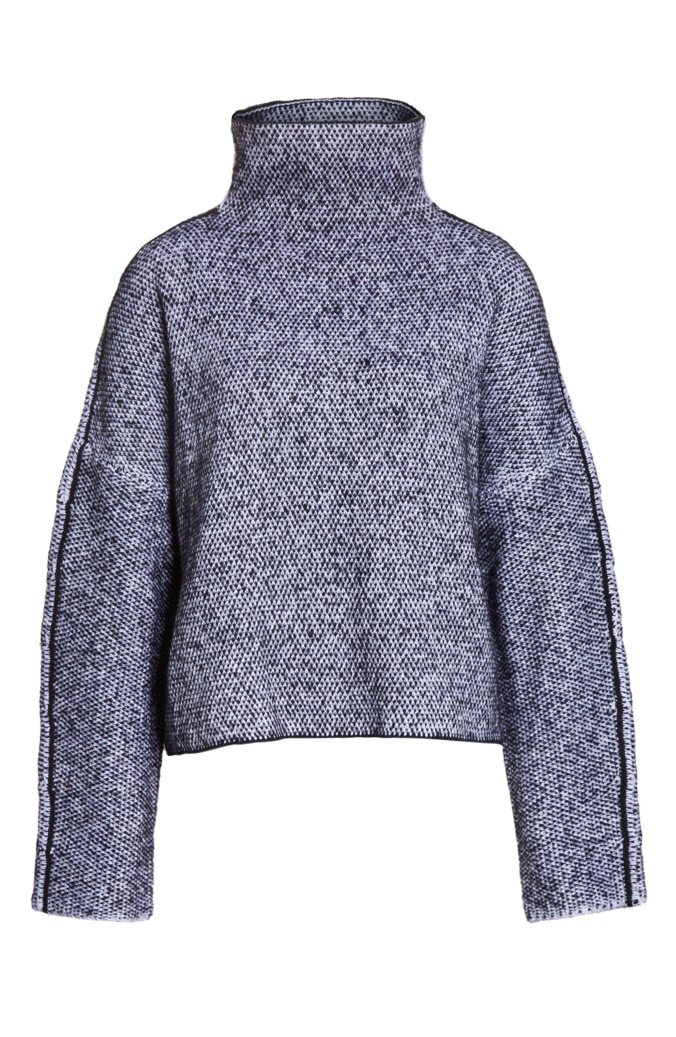 Robin Merino Wool Blend Sweater,                             Alternate thumbnail 6, color,                             001