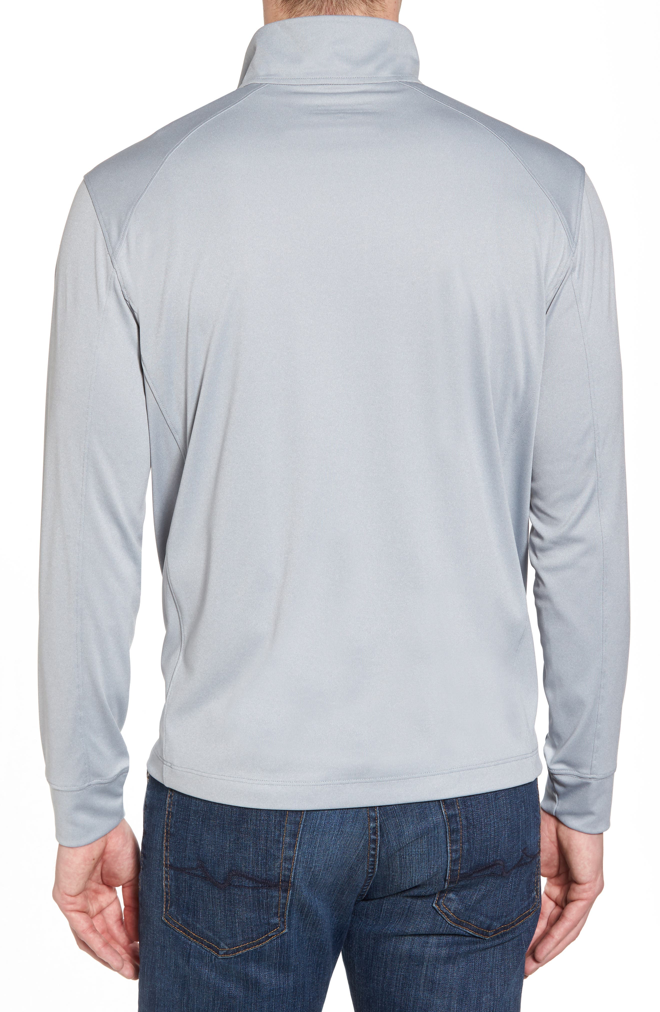 Heathered Quarter Zip Pullover,                             Alternate thumbnail 2, color,                             034