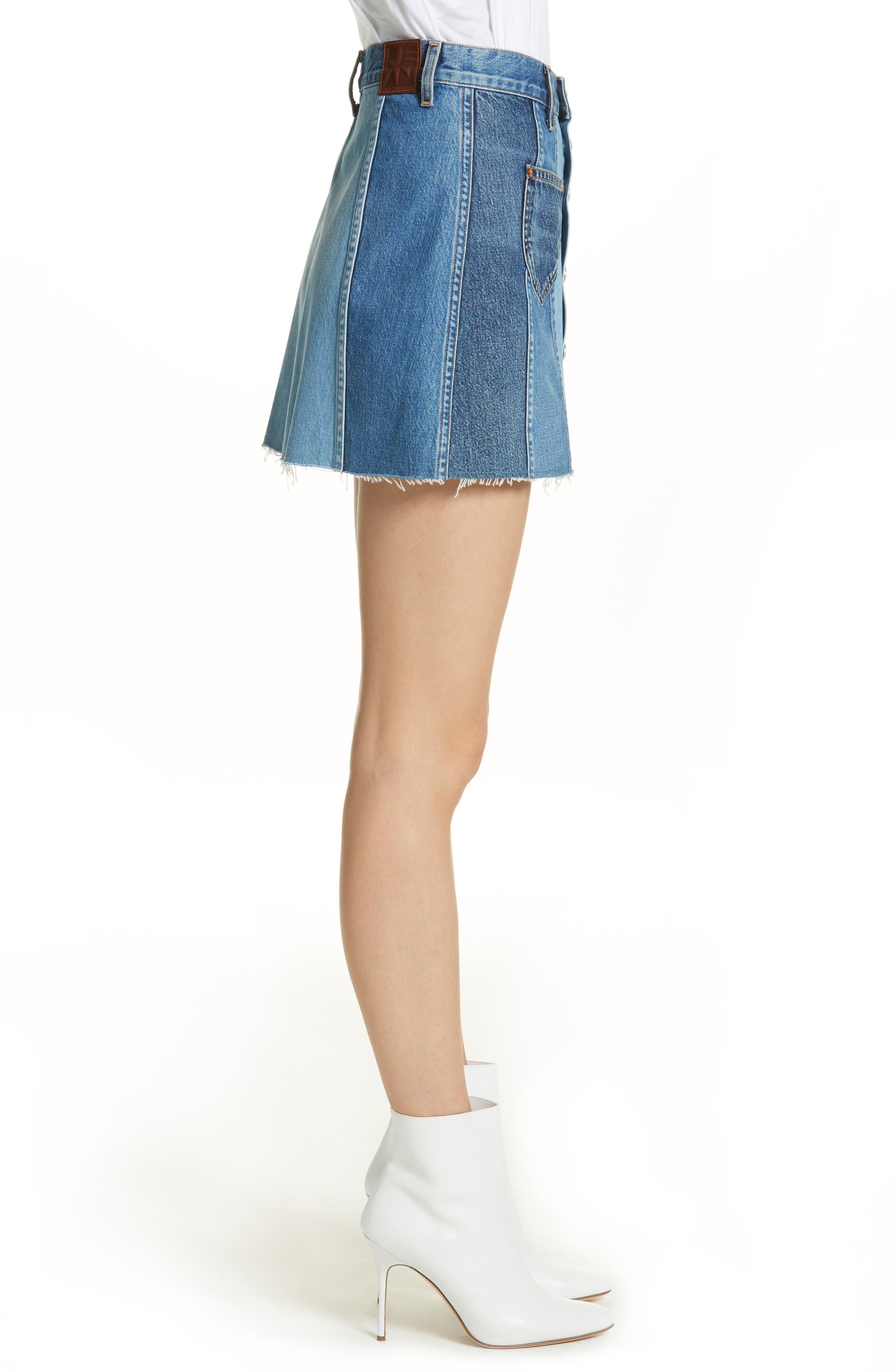 Eloise High Rise Denim Miniskirt,                             Alternate thumbnail 3, color,                             424