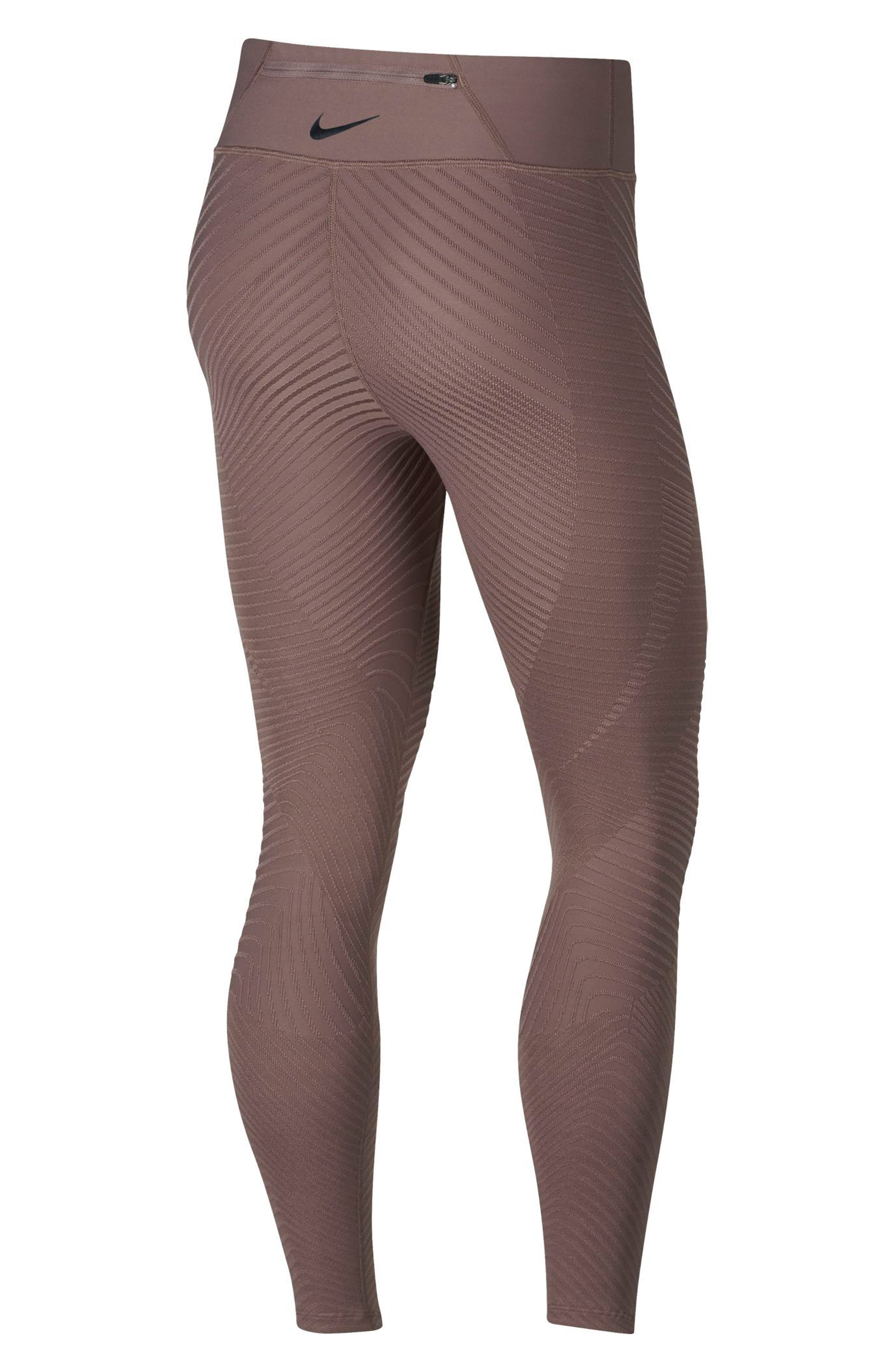 Epic Lux Running Tights,                             Alternate thumbnail 2, color,                             SMOKEY MAUVE/ SILVER