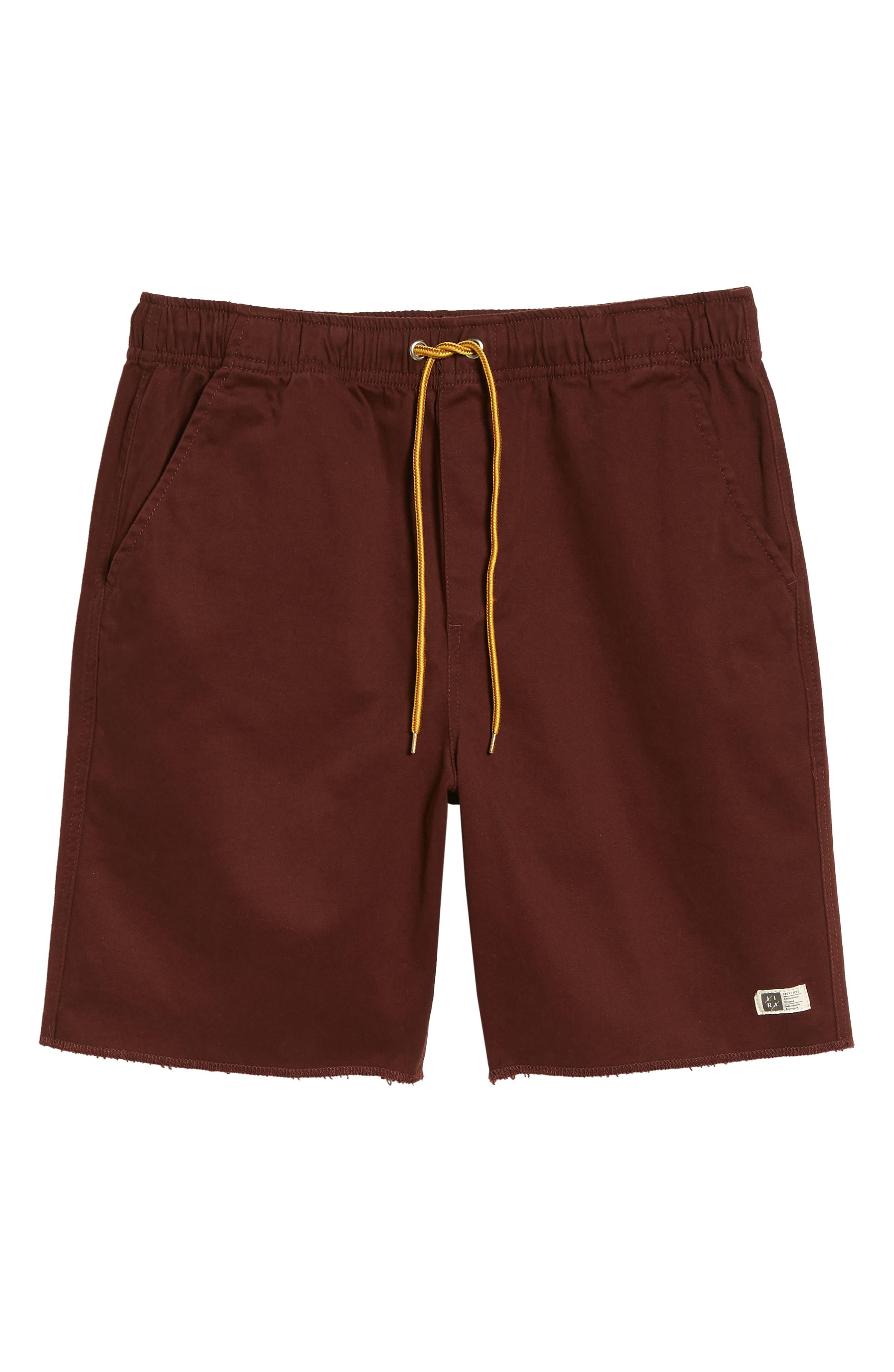 Weekday Shorts,                             Alternate thumbnail 6, color,                             BURGUNDY