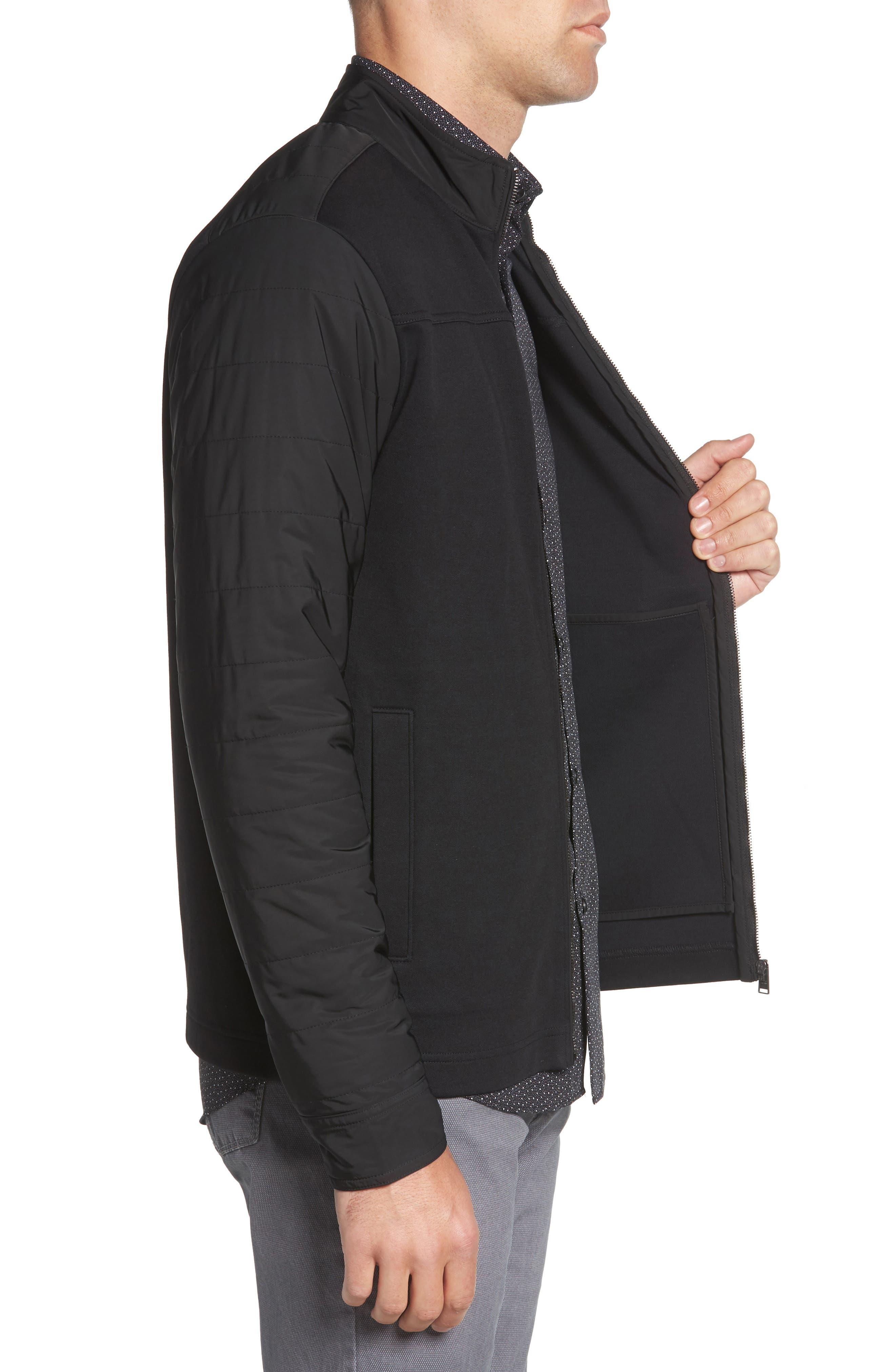 Soule Slim Fit Moto Jacket,                             Alternate thumbnail 3, color,                             BLACK