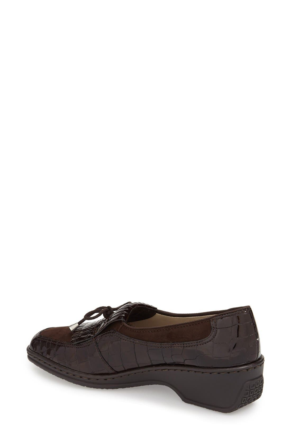'Rachel' Loafer,                             Alternate thumbnail 3, color,                             BROWN NUBUCK LEATHER