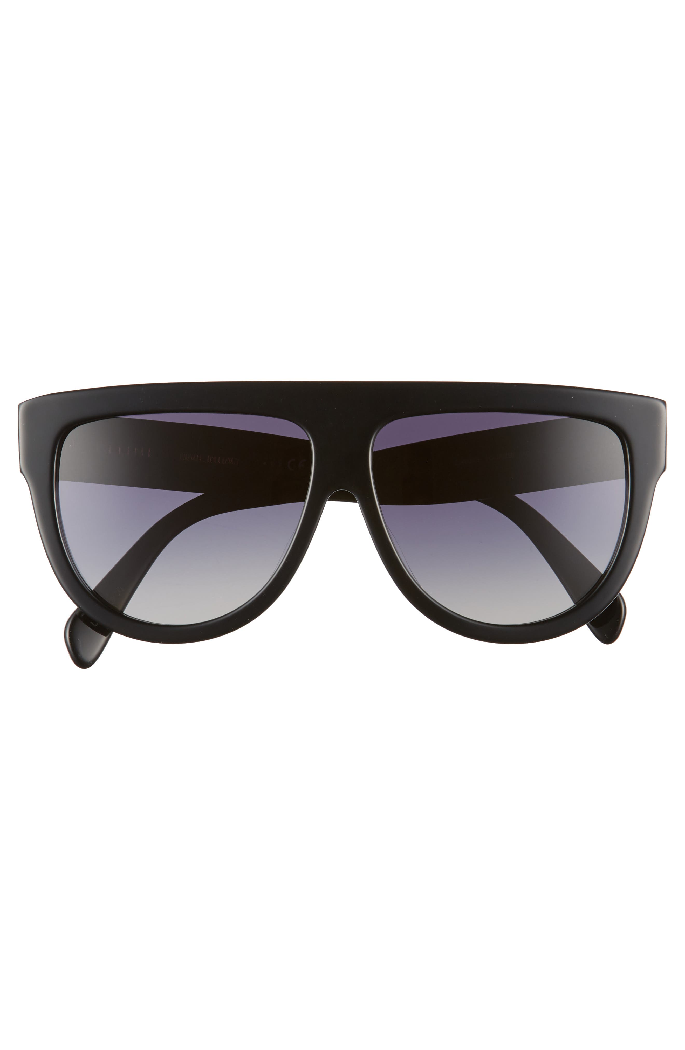 Special Fit 60mm Polarized Gradient Flat Top Sunglasses,                             Alternate thumbnail 4, color,                             001