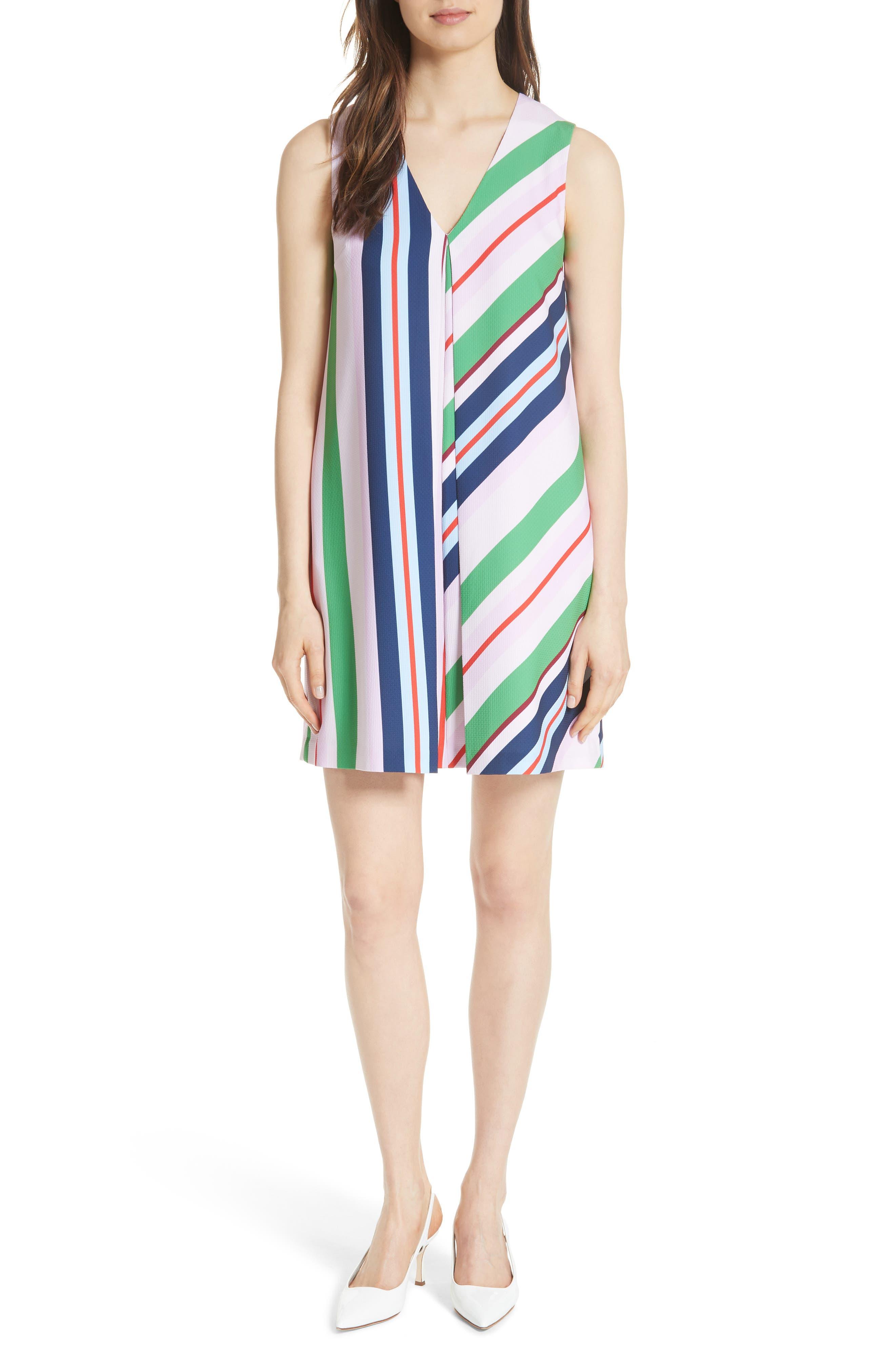 Stripe Shift Dress,                             Main thumbnail 1, color,                             680