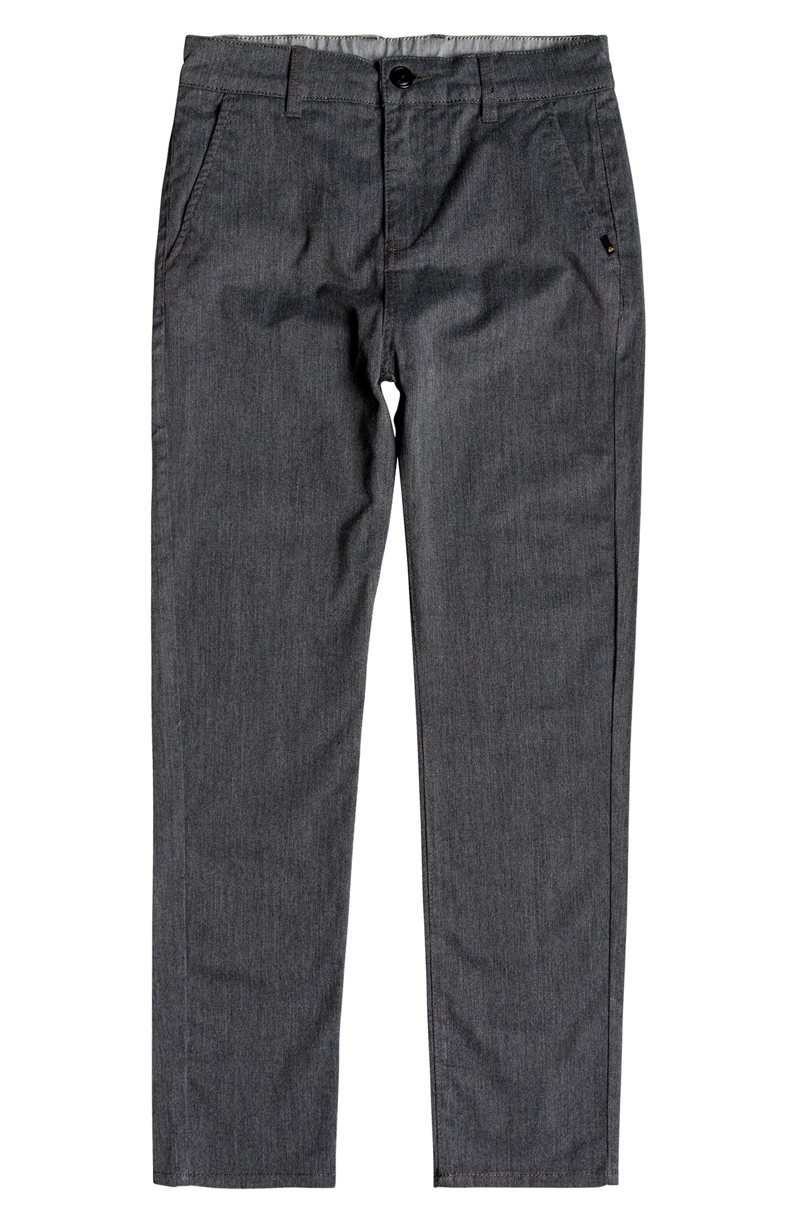 Boys Quiksilver Everyday Union Straight Leg Pants Size 27  Grey