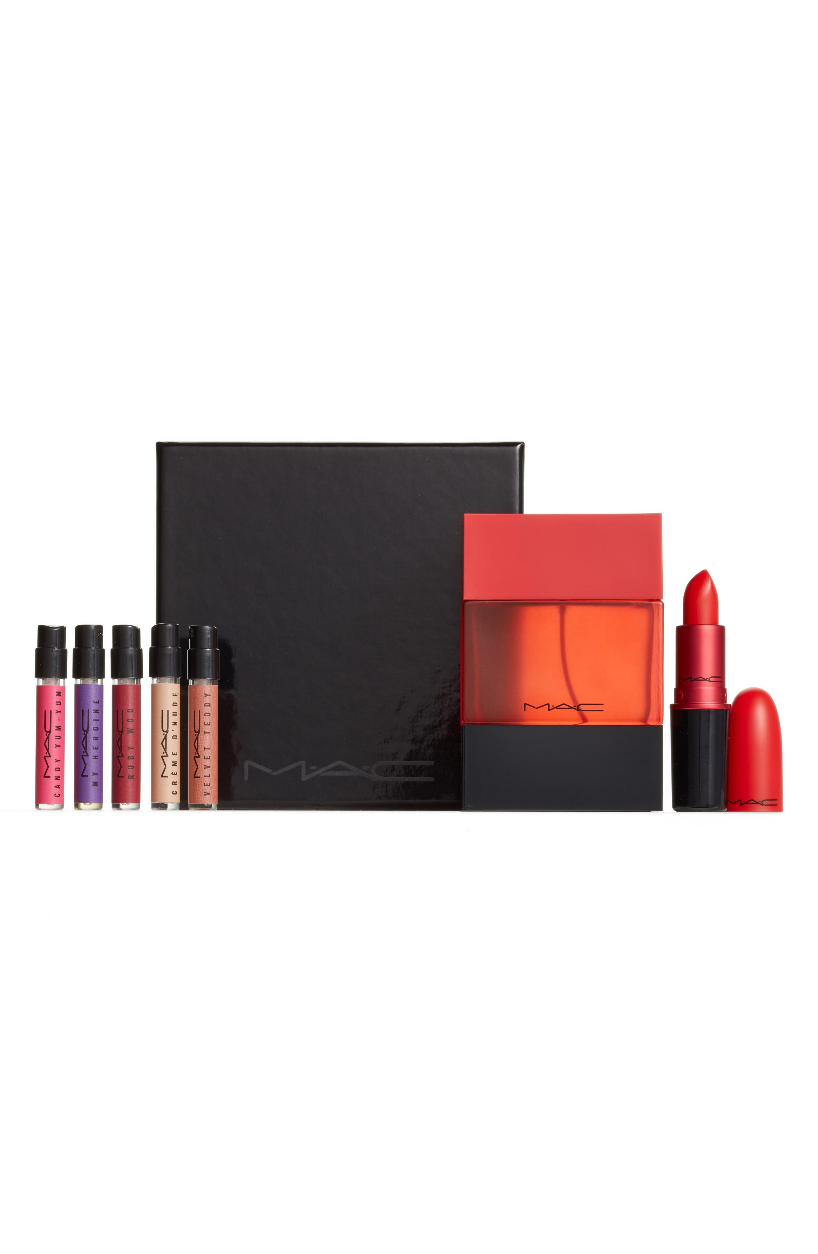 MAC Lady Danger Lipstick & Shadescent Fragrance Set,                             Main thumbnail 1, color,                             RED