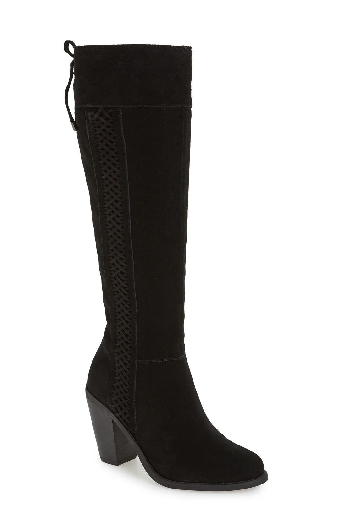 Ciarah Knee High Boot,                             Main thumbnail 1, color,                             001