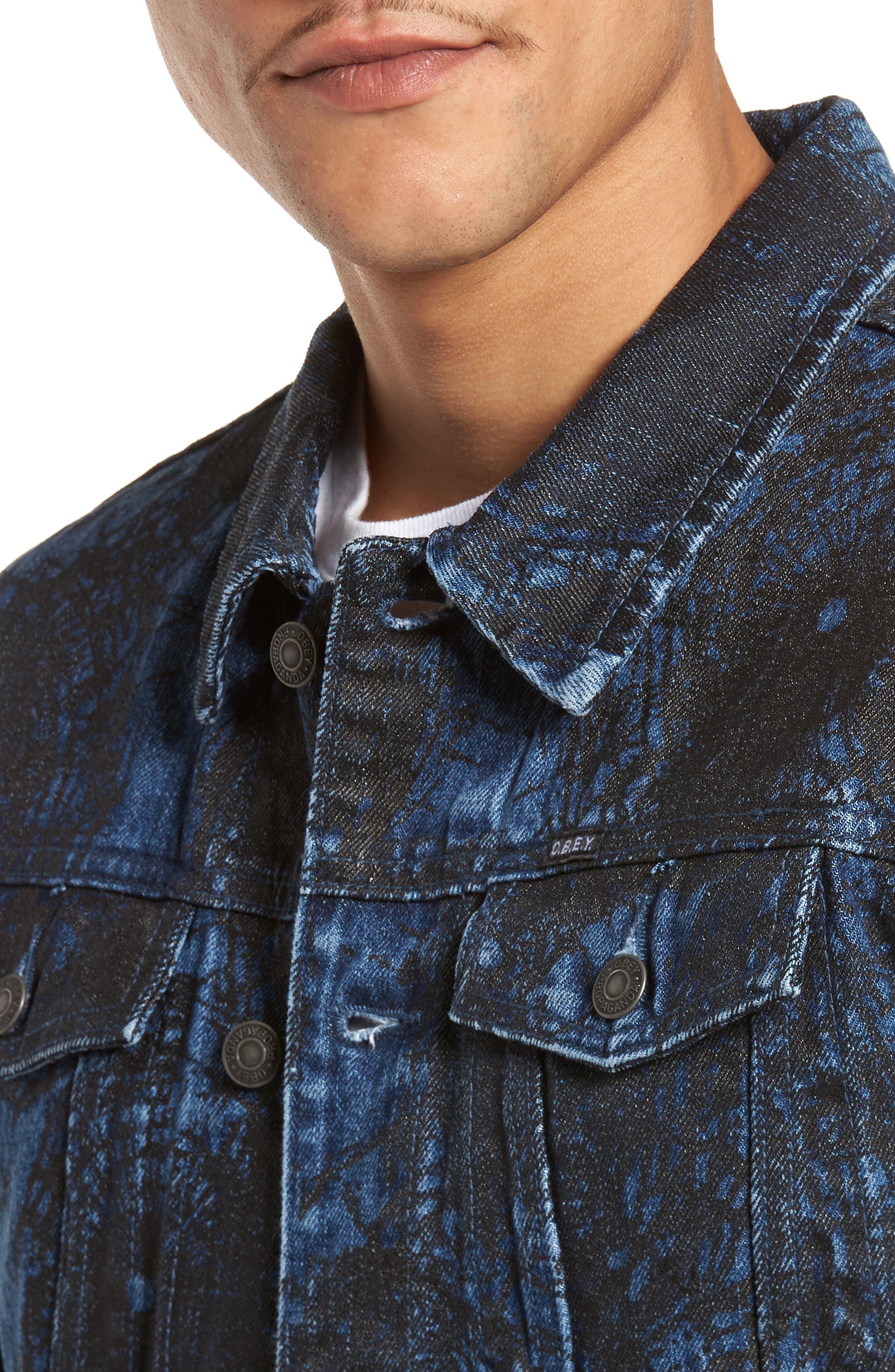 Shattered Denim Jacket,                             Alternate thumbnail 4, color,                             002