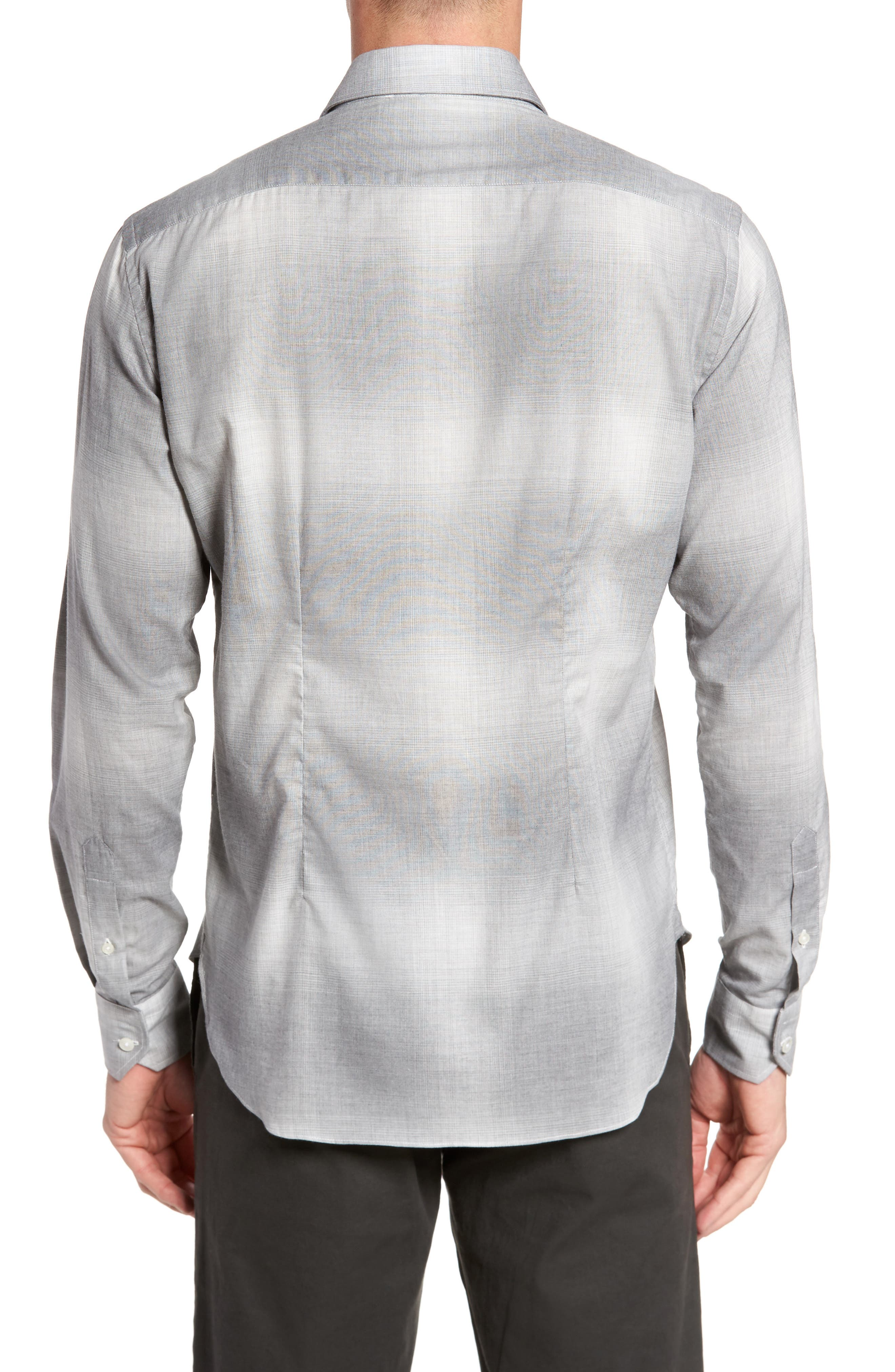 Slim Fit Plaid Sport Shirt,                             Alternate thumbnail 2, color,                             020