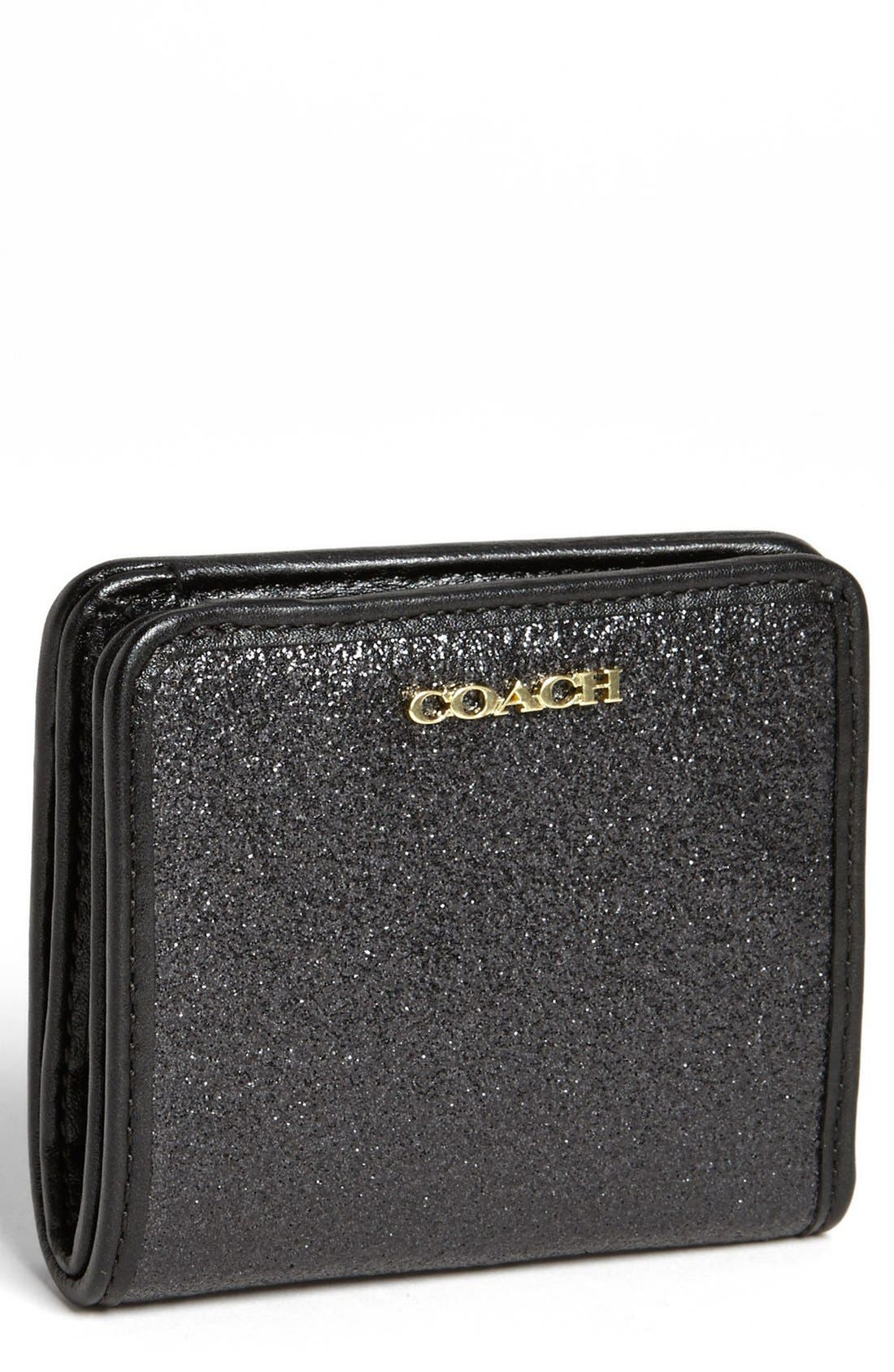 COACH,                             'Glitter' Bifold Wallet,                             Main thumbnail 1, color,                             012