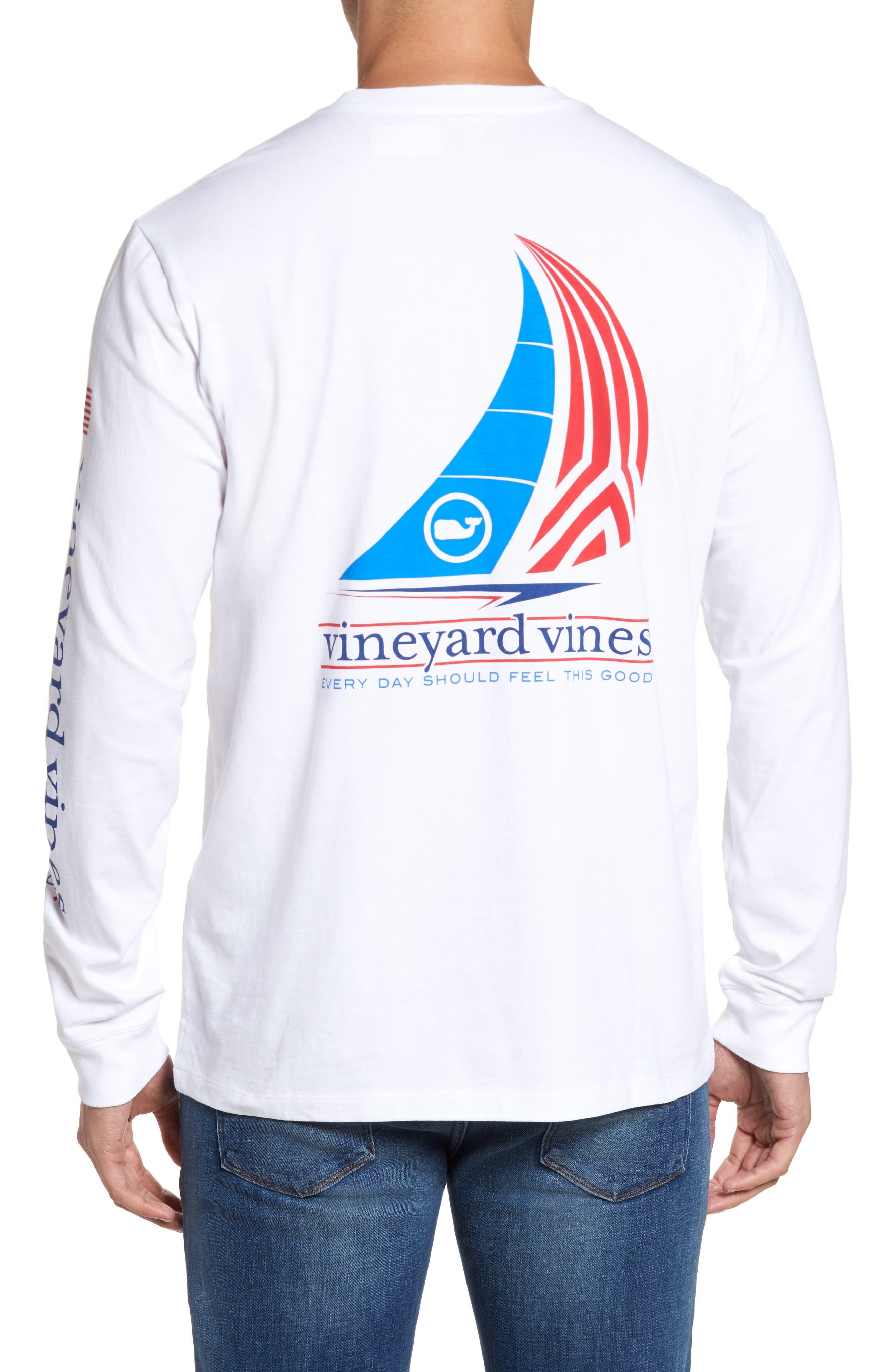 Spinnaker Sail Long Sleeve Pocket T-Shirt,                             Alternate thumbnail 4, color,                             100