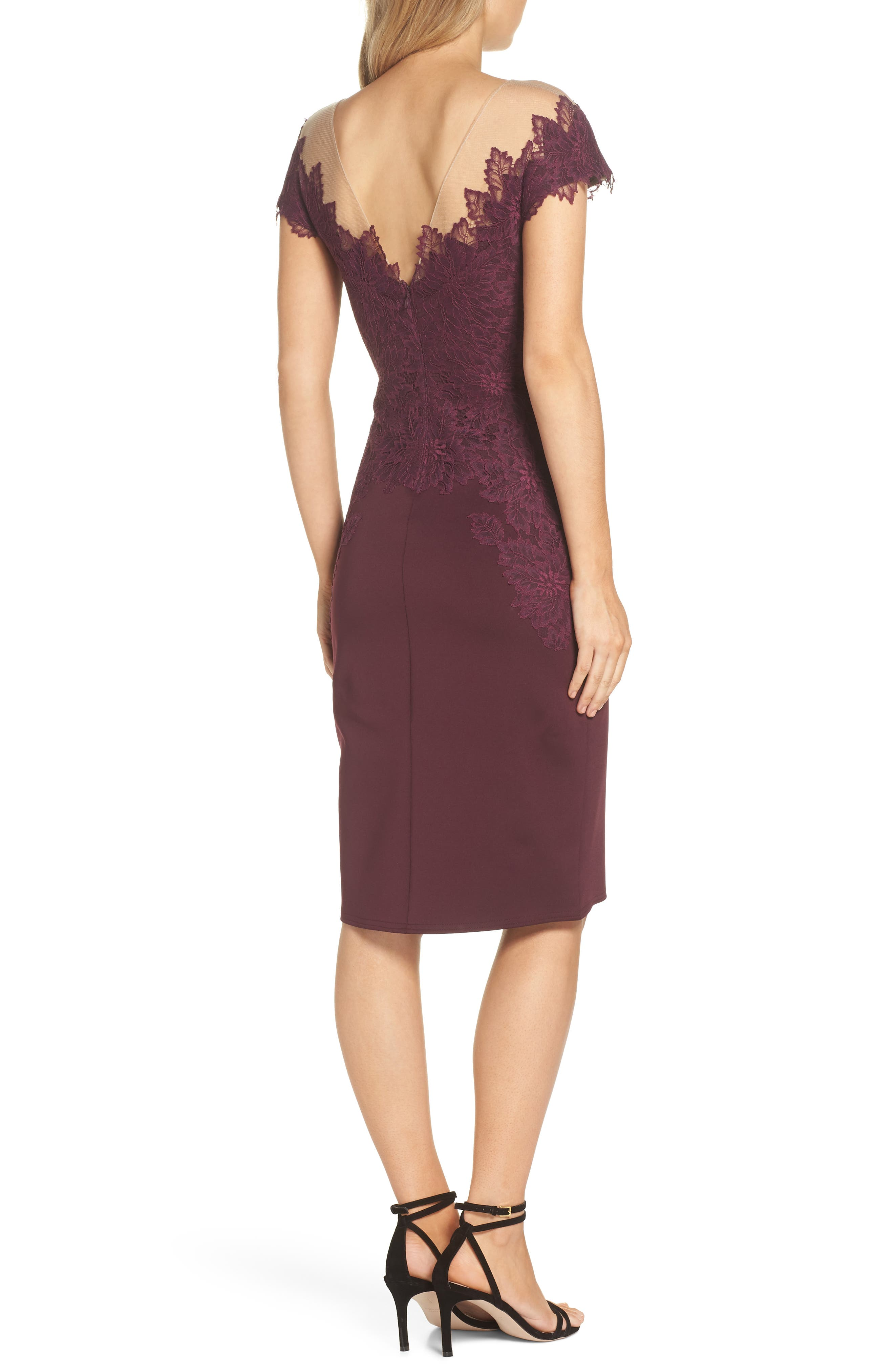 Lace Embellished Body-Con Dress,                             Alternate thumbnail 2, color,                             510