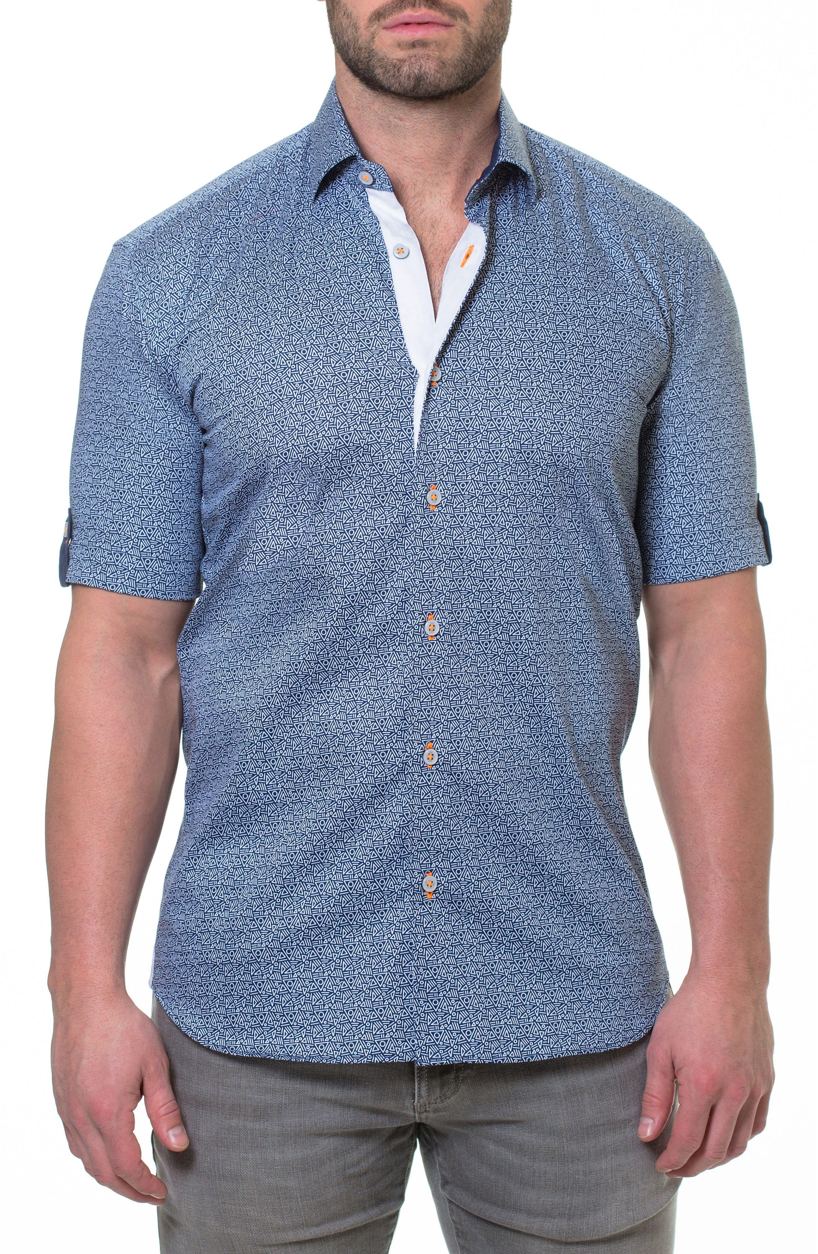 Fresh Aztec Print Sport Shirt,                             Main thumbnail 1, color,