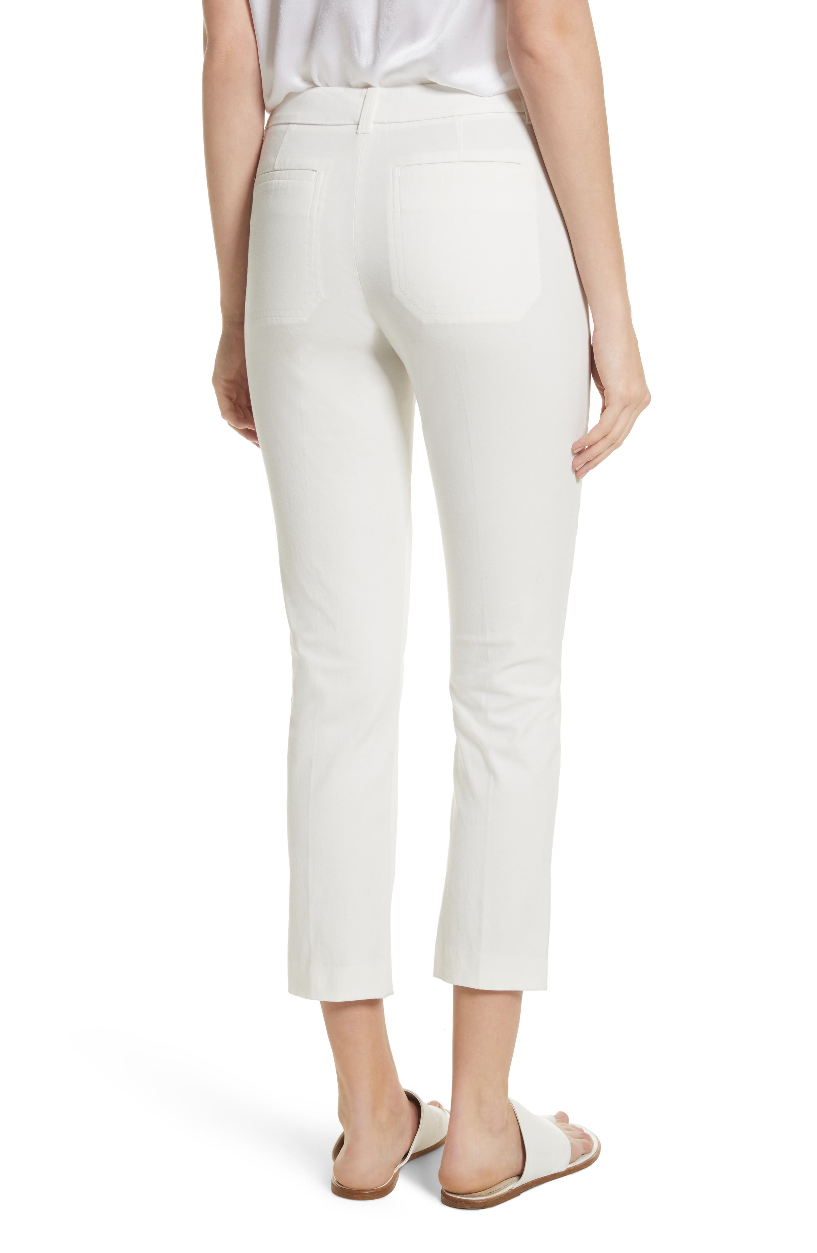 Crop Chino Pants,                             Alternate thumbnail 2, color,                             OFF WHITE