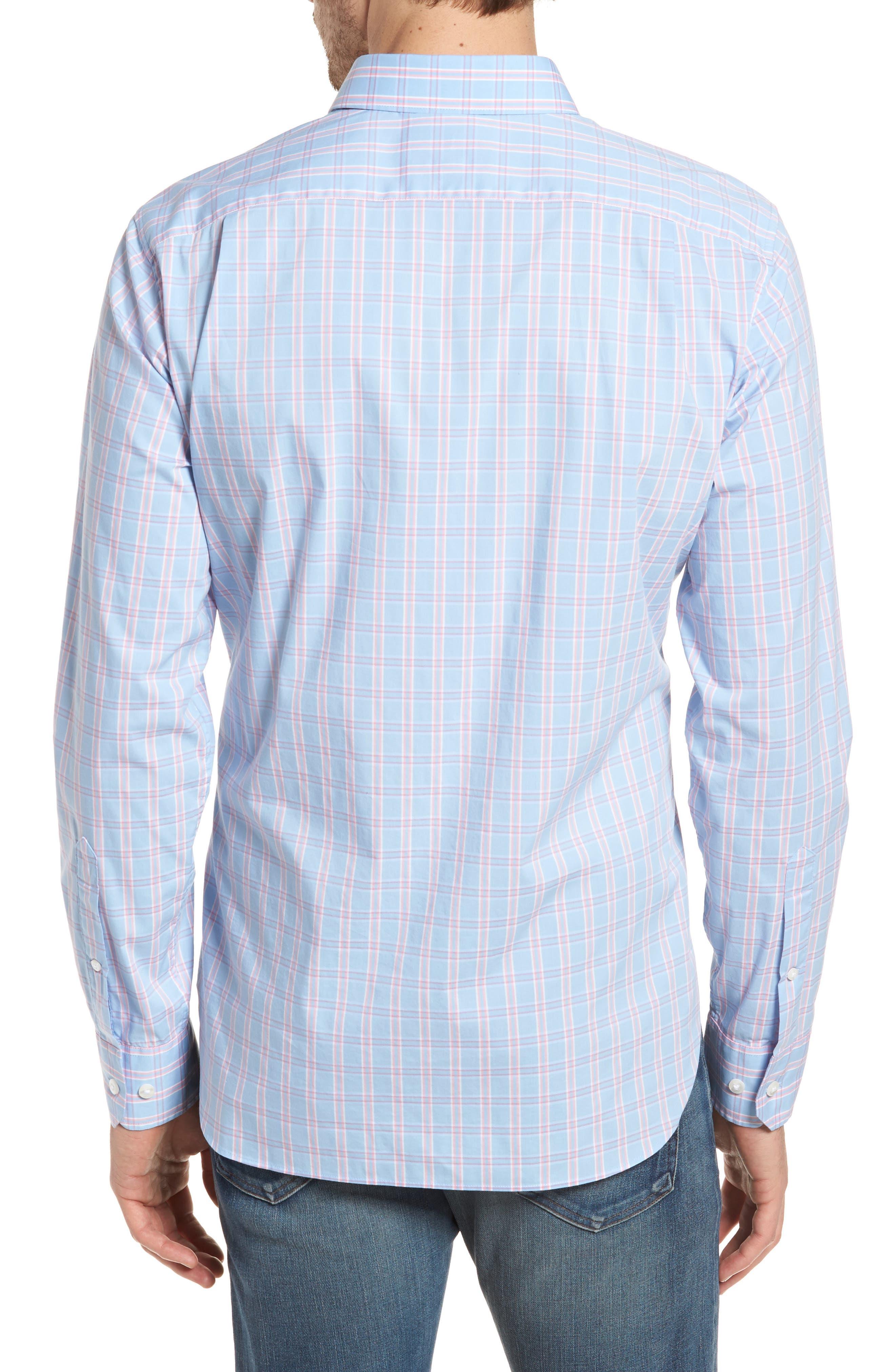 Unbutton Down 2.0 Slim Fit Check Sport Shirt,                             Alternate thumbnail 2, color,                             400