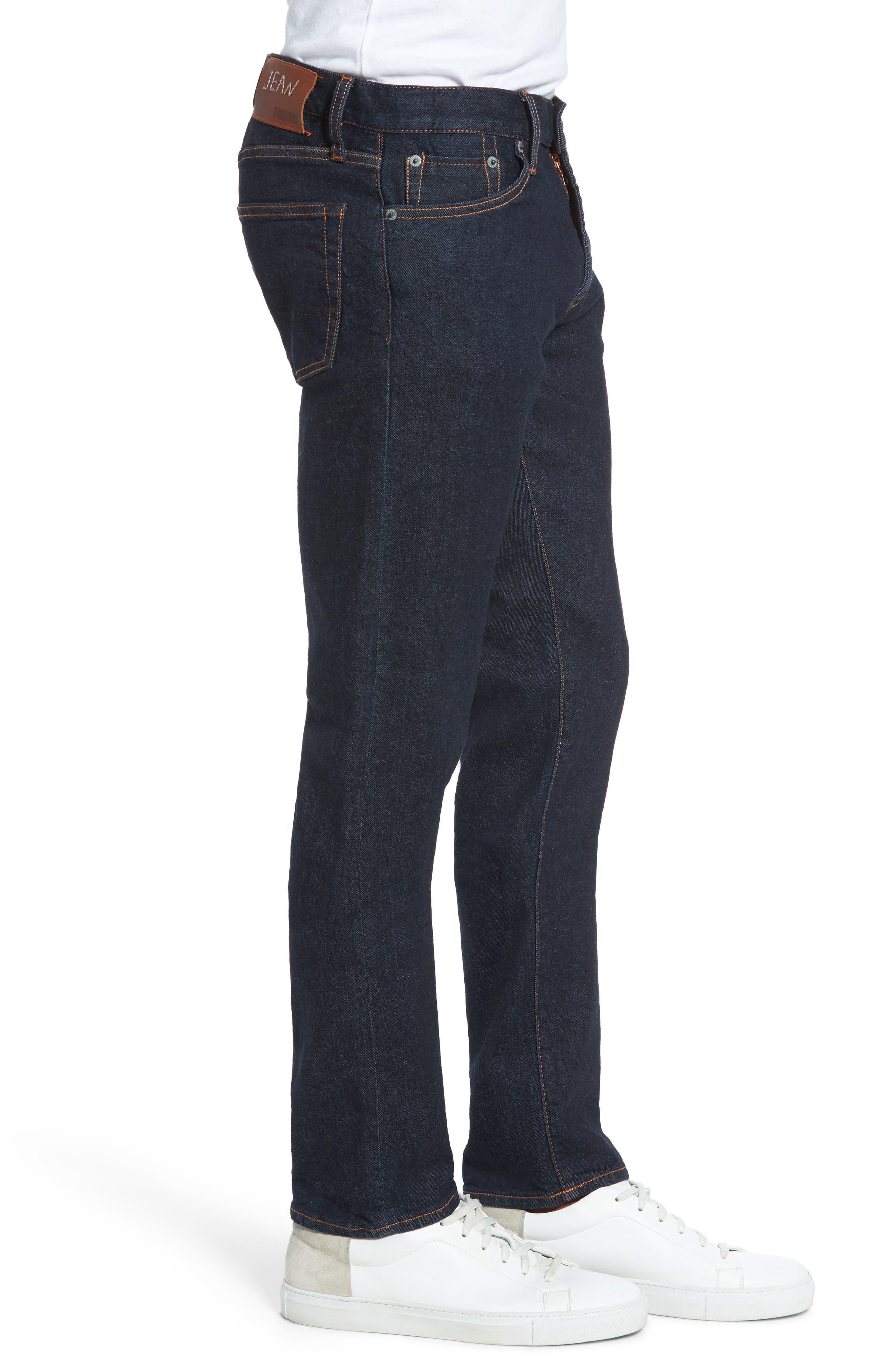 Jim Slim Fit Selvedge Jeans,                             Alternate thumbnail 3, color,                             460