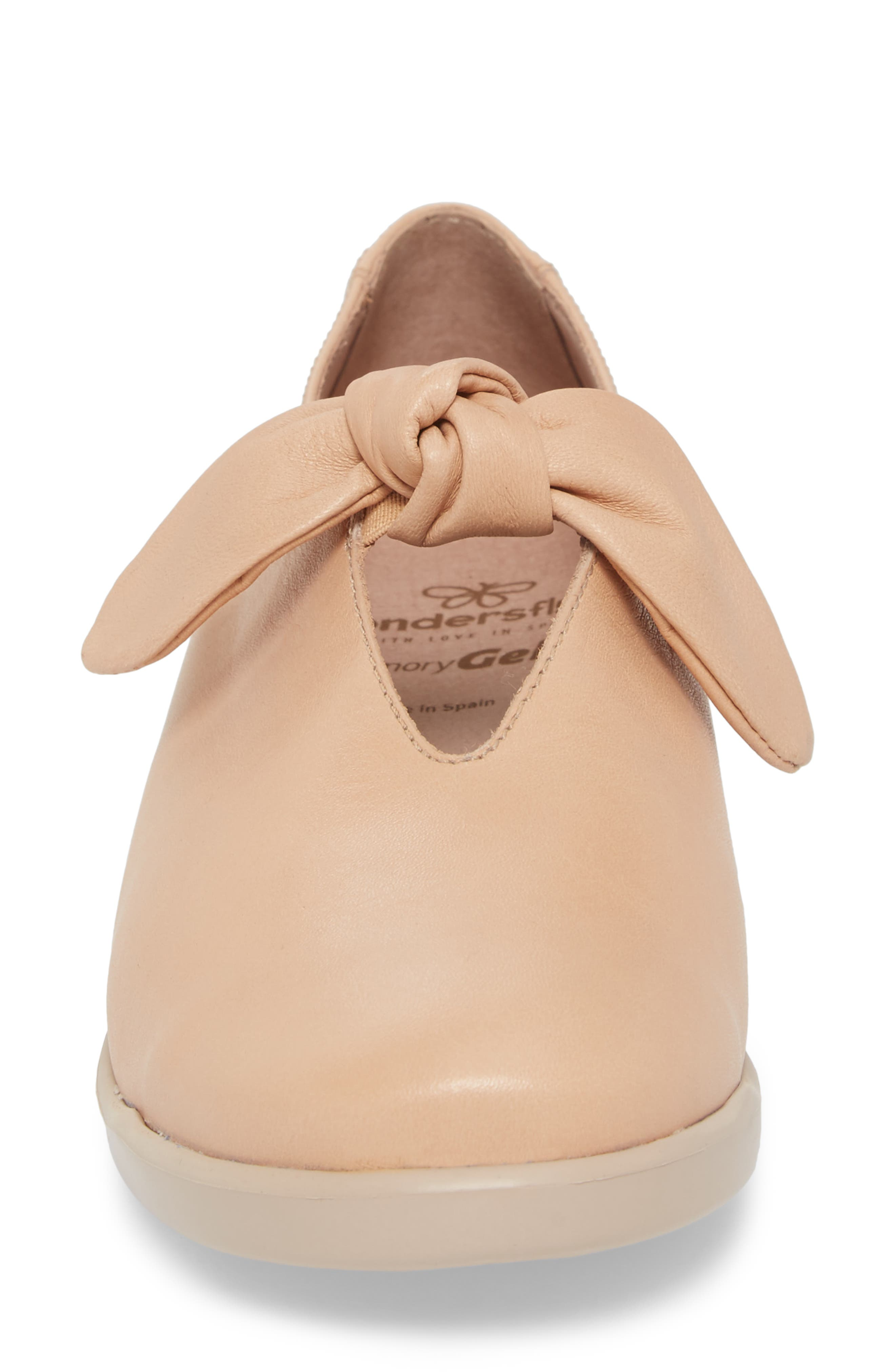 Knotted Mary Jane Flat,                             Alternate thumbnail 4, color,                             PALO BEIGE LEATHER