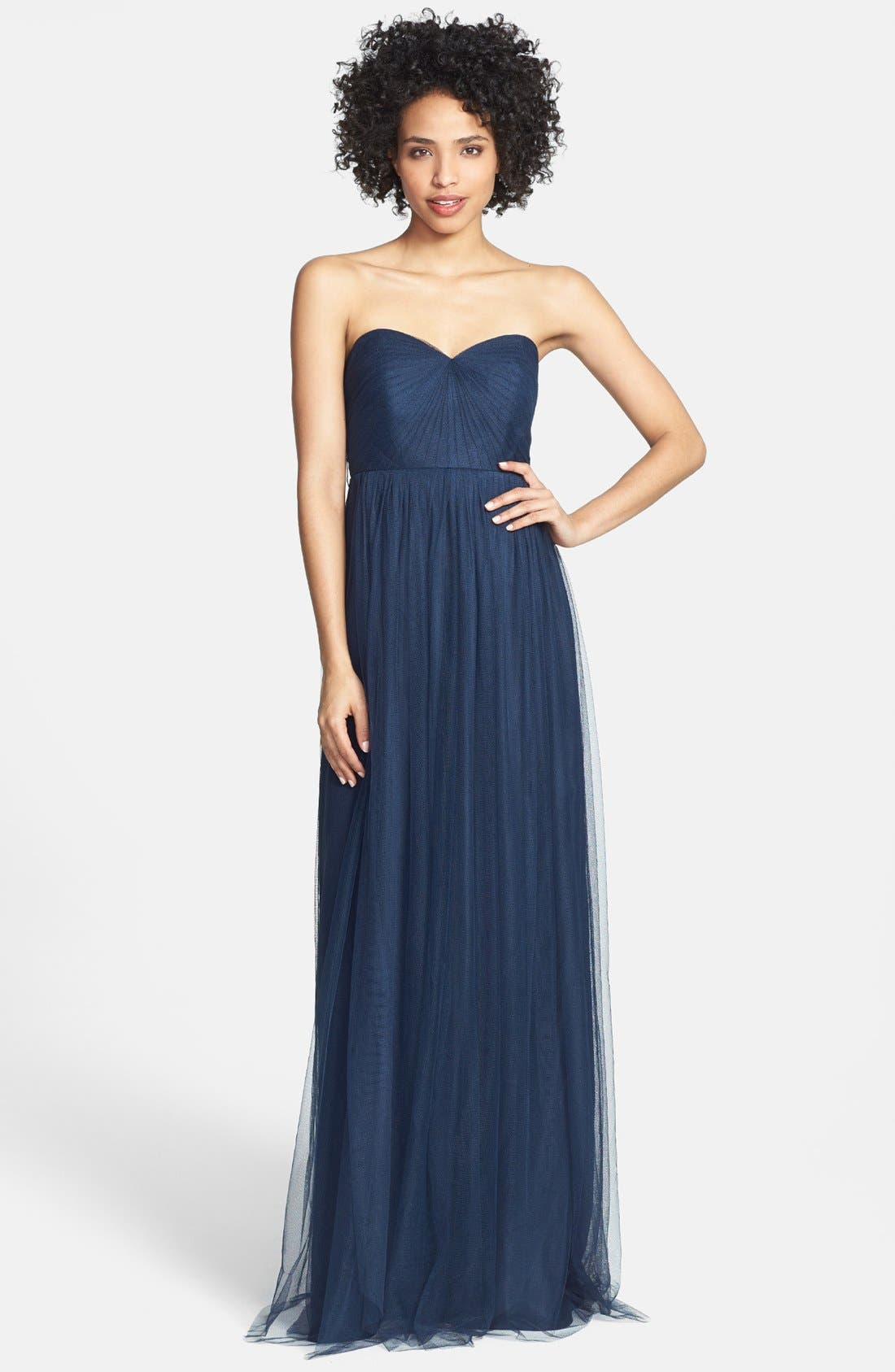 Annabelle Convertible Tulle Column Dress,                             Main thumbnail 3, color,