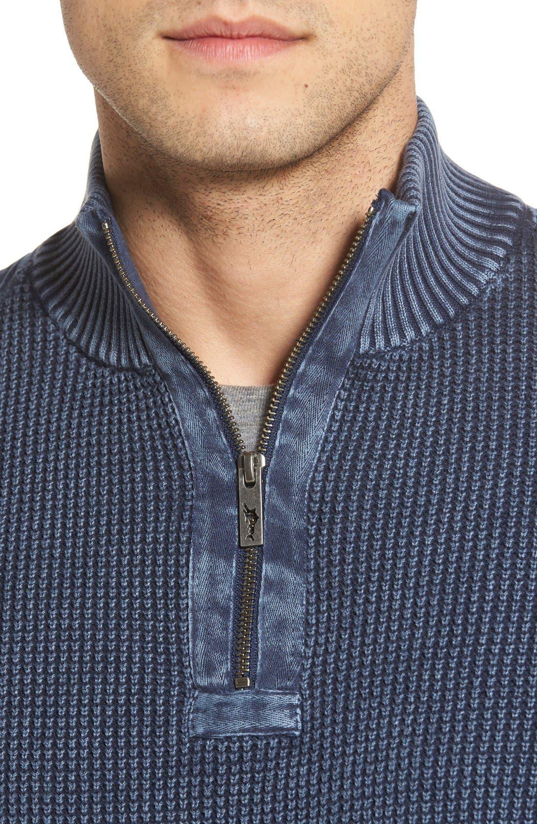 'Coastal Shores' Quarter Zip Sweater,                             Alternate thumbnail 34, color,