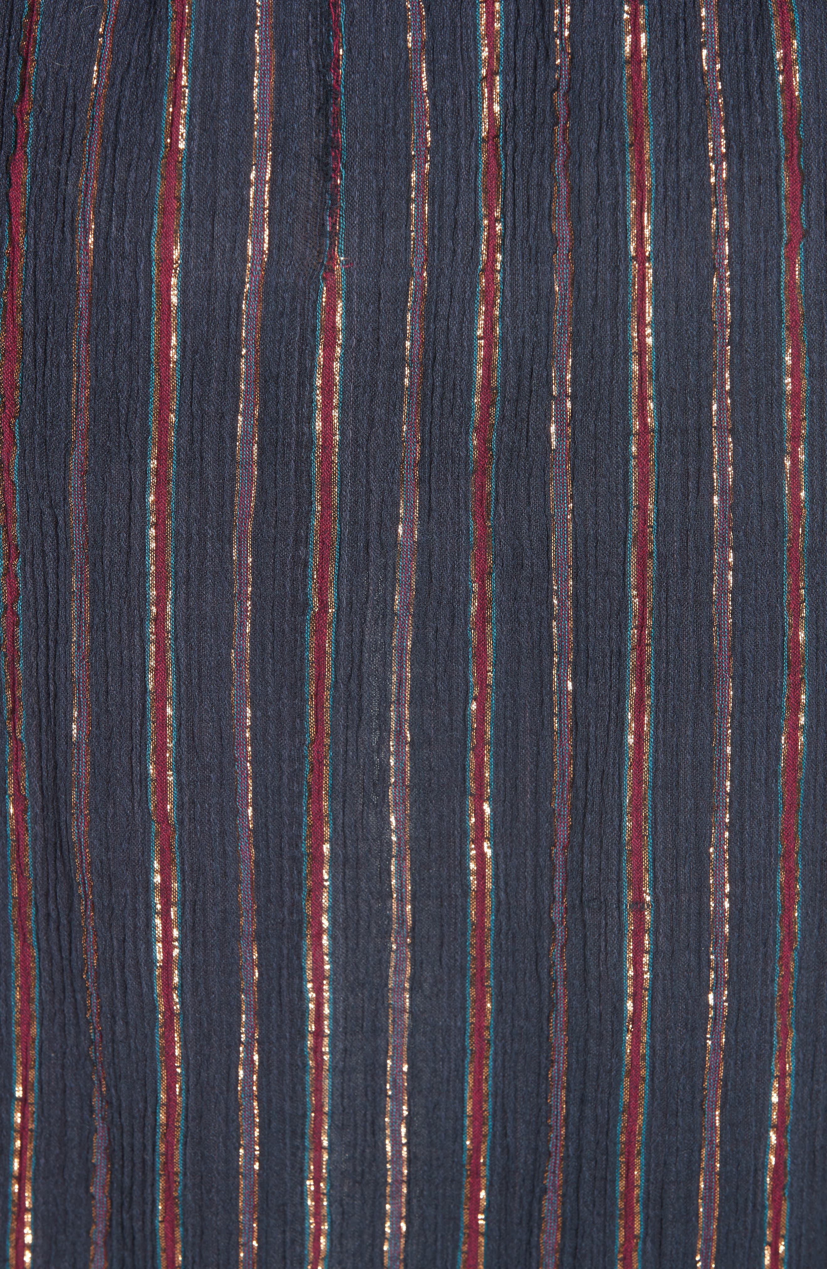 Esmeralda Lyrical Peasant Dress,                             Alternate thumbnail 5, color,                             BLUE COMBO