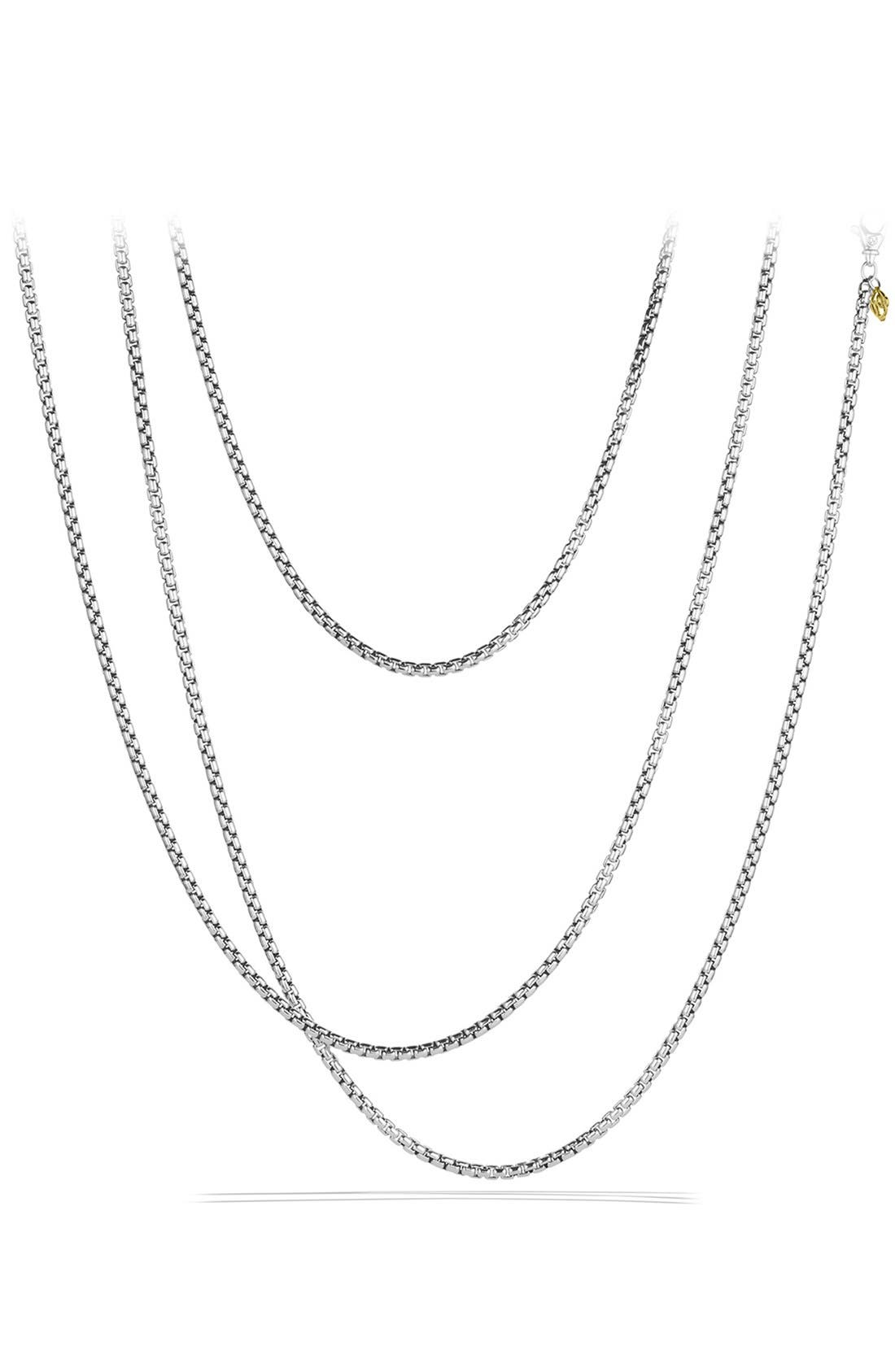 DAVID YURMAN,                             'Chain' Medium Box Chain with Gold,                             Main thumbnail 1, color,                             TWO TONE