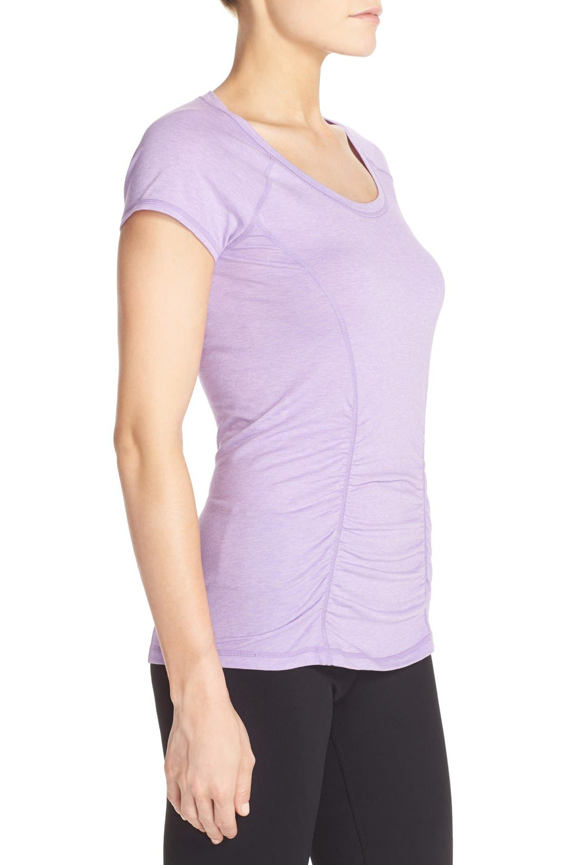 'Z 6' Ruched Tee,                             Alternate thumbnail 71, color,