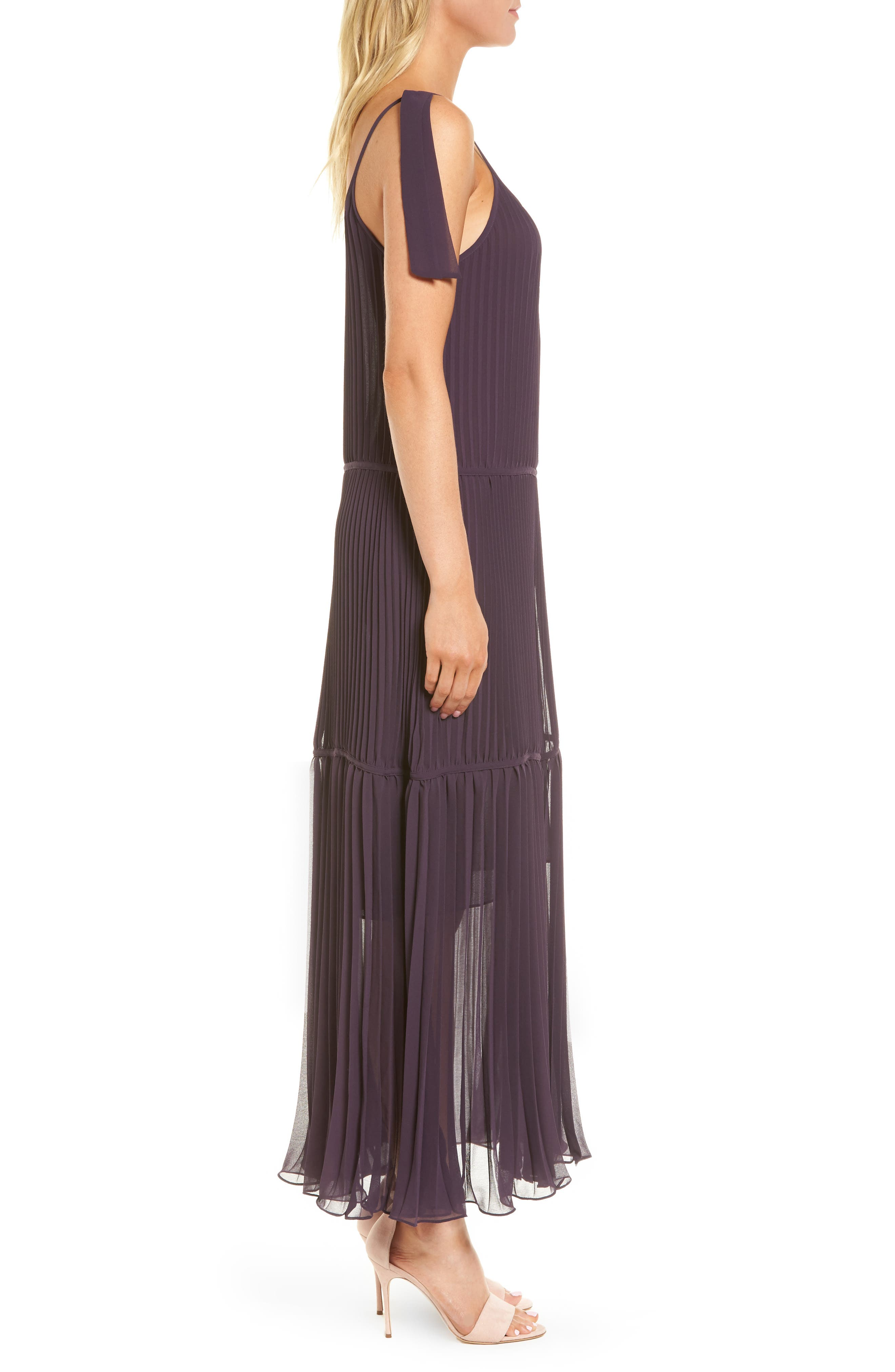 Chiffon Maxi Dress,                             Alternate thumbnail 8, color,