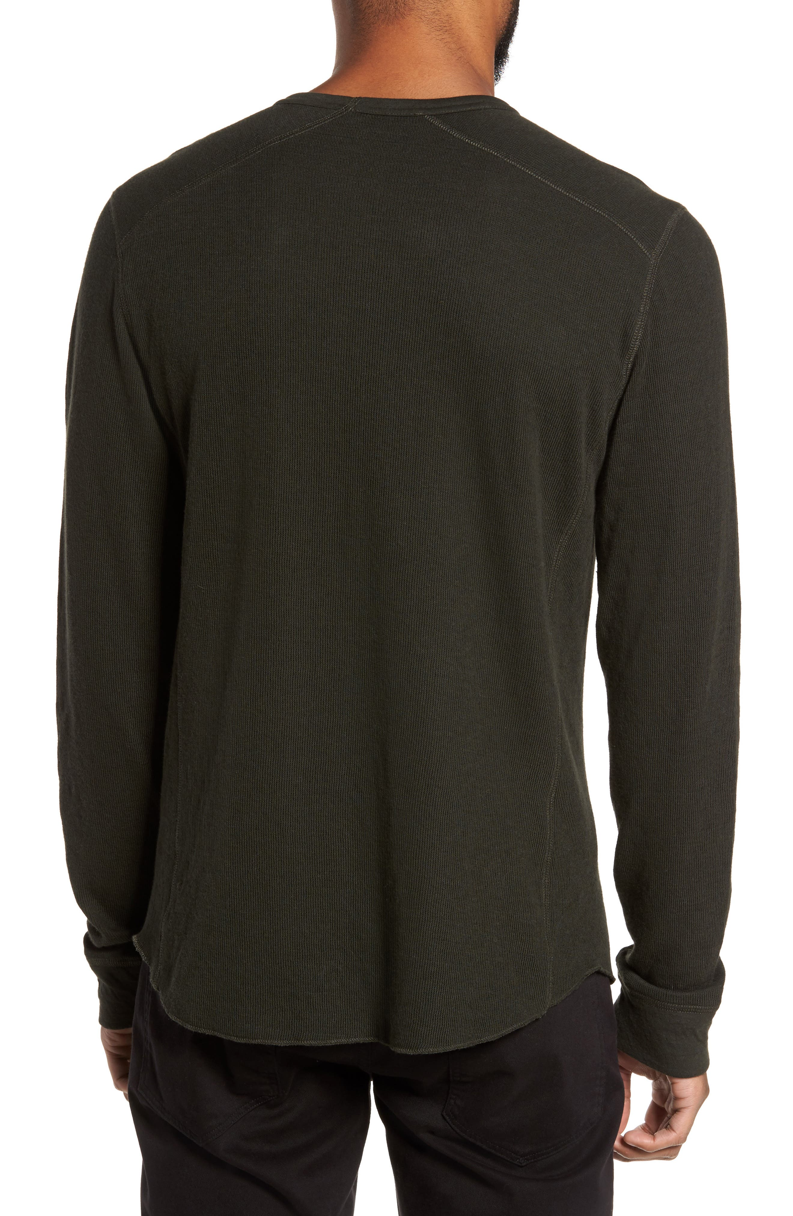 Double Knit Long Sleeve T-Shirt,                             Alternate thumbnail 9, color,