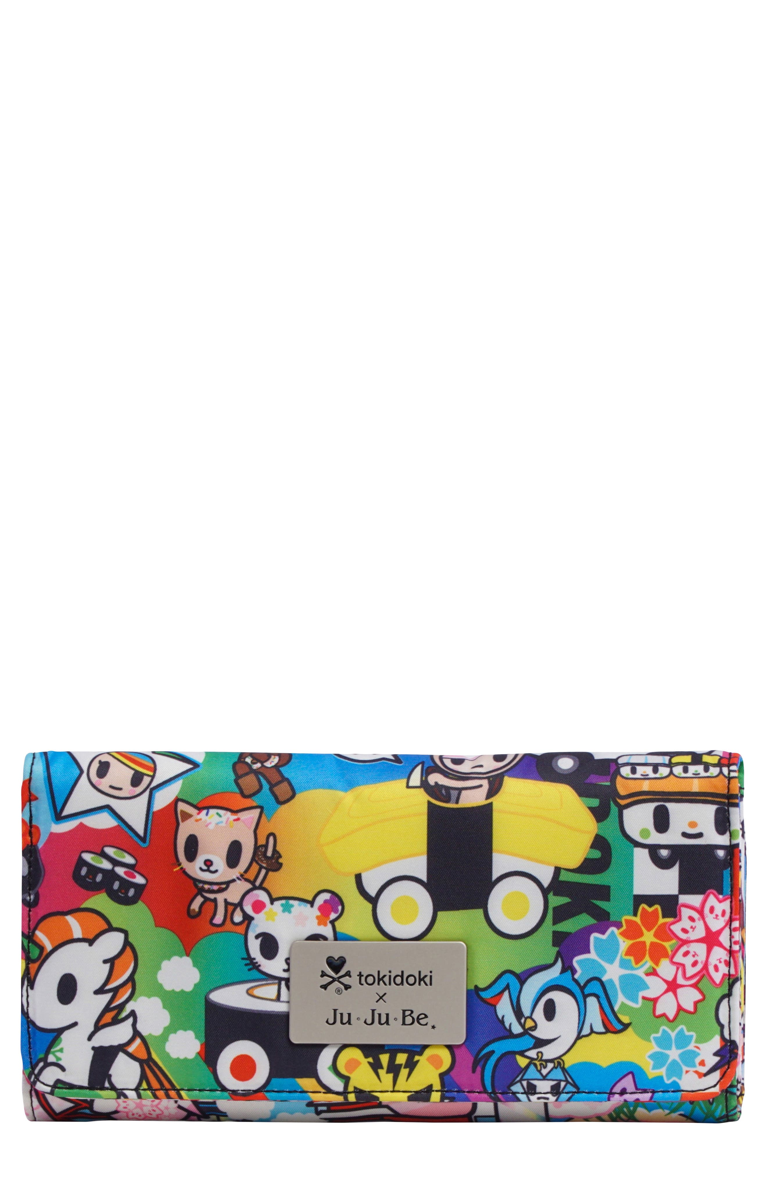 x tokidoki Be Rich Trifold Clutch Wallet,                             Main thumbnail 1, color,                             SUSHI CARS