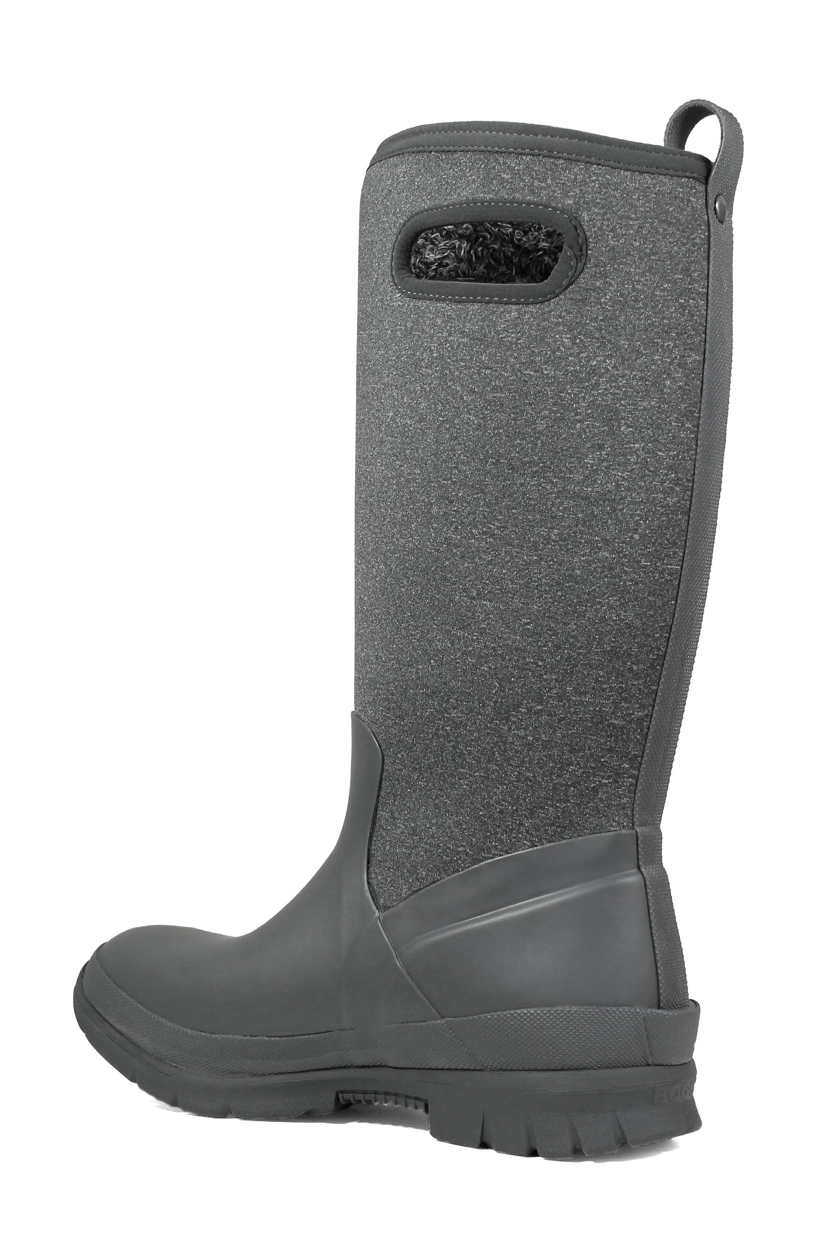 Crandall Waterproof Tall Boot,                             Alternate thumbnail 2, color,                             DARK GREY