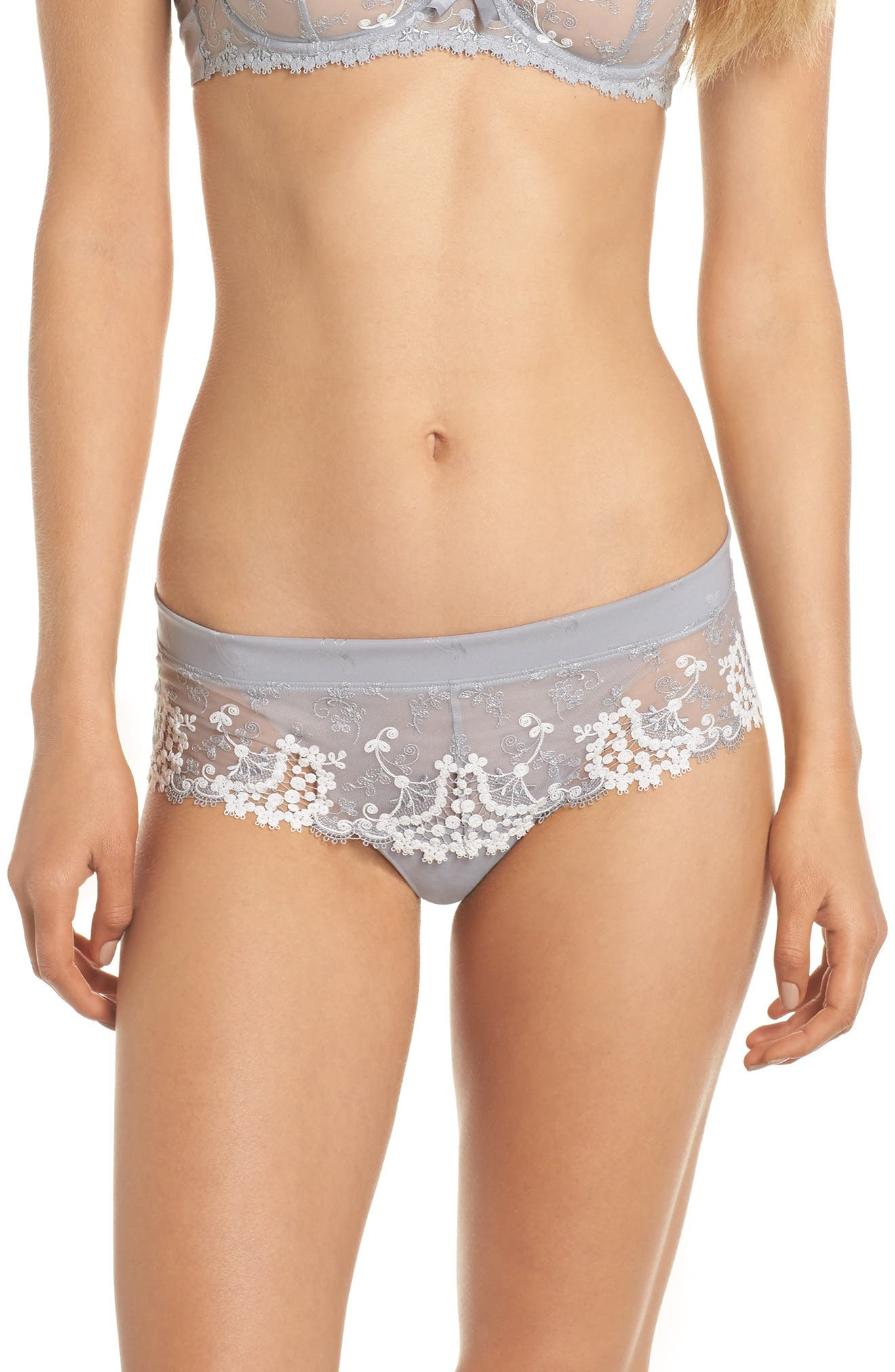 'Wish' Embroidered Boyshorts,                         Main,                         color,