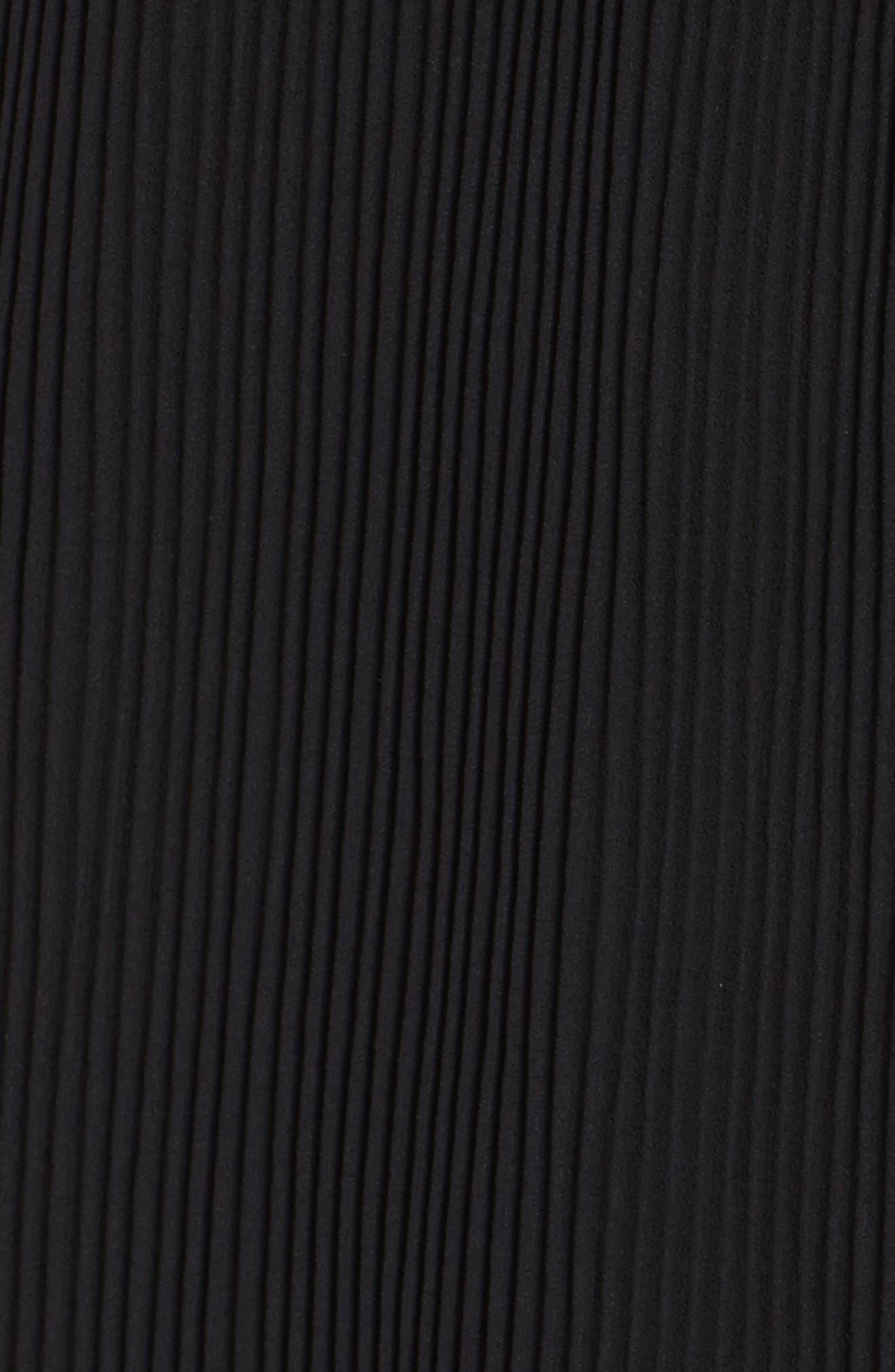 Tiered Midi Dress,                             Alternate thumbnail 5, color,                             001