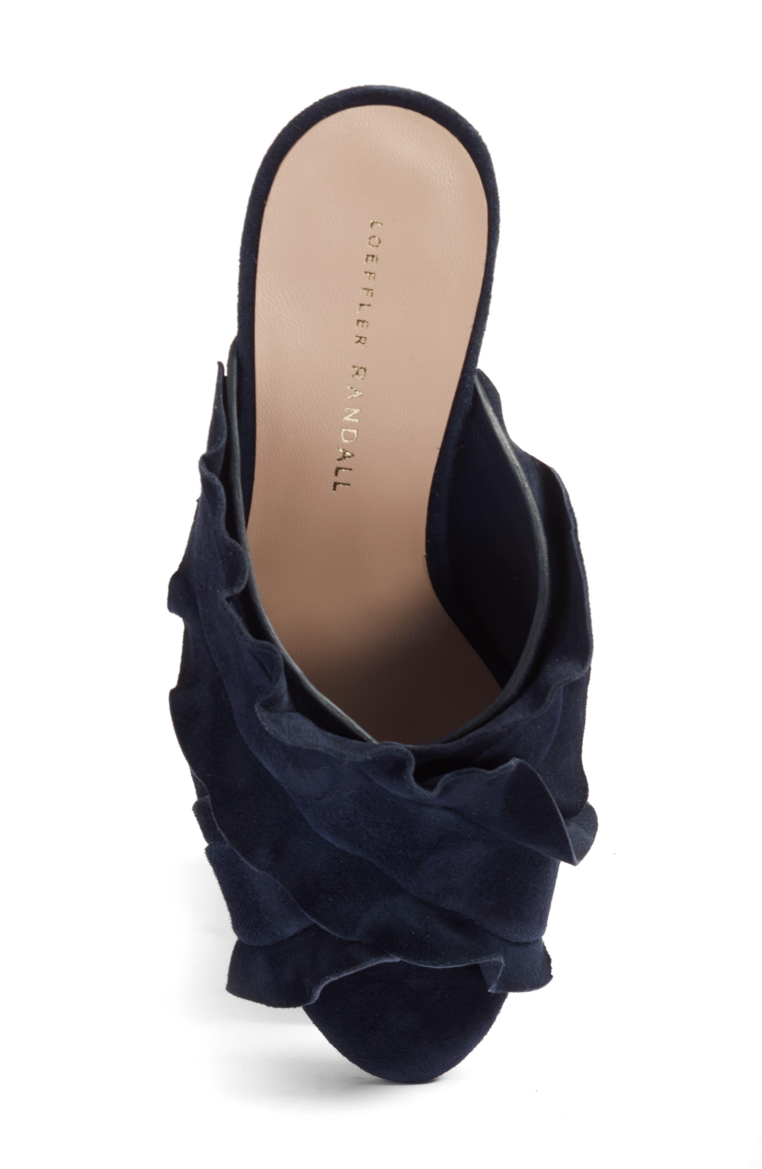 Kaya Embellished Ruffle Slide Sandal,                             Alternate thumbnail 5, color,                             499