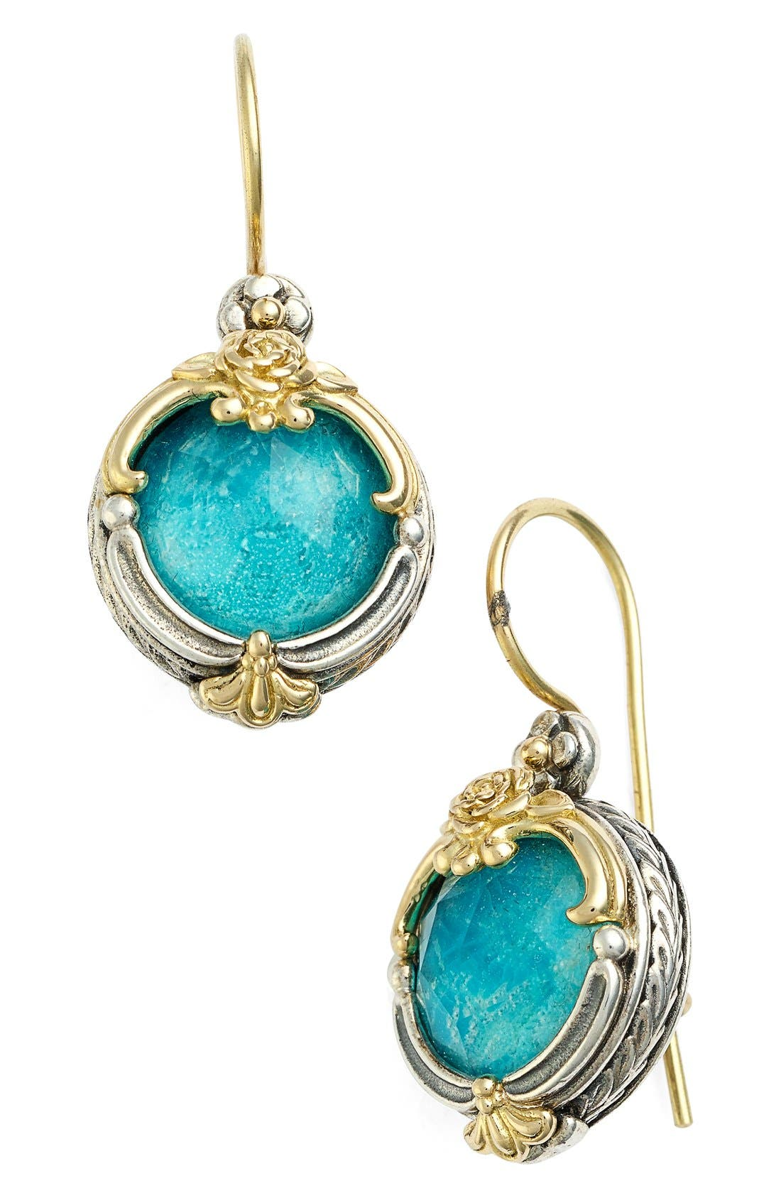 'Iliada' Doublet Drop Earrings,                             Main thumbnail 1, color,                             BLUE/ GREEN