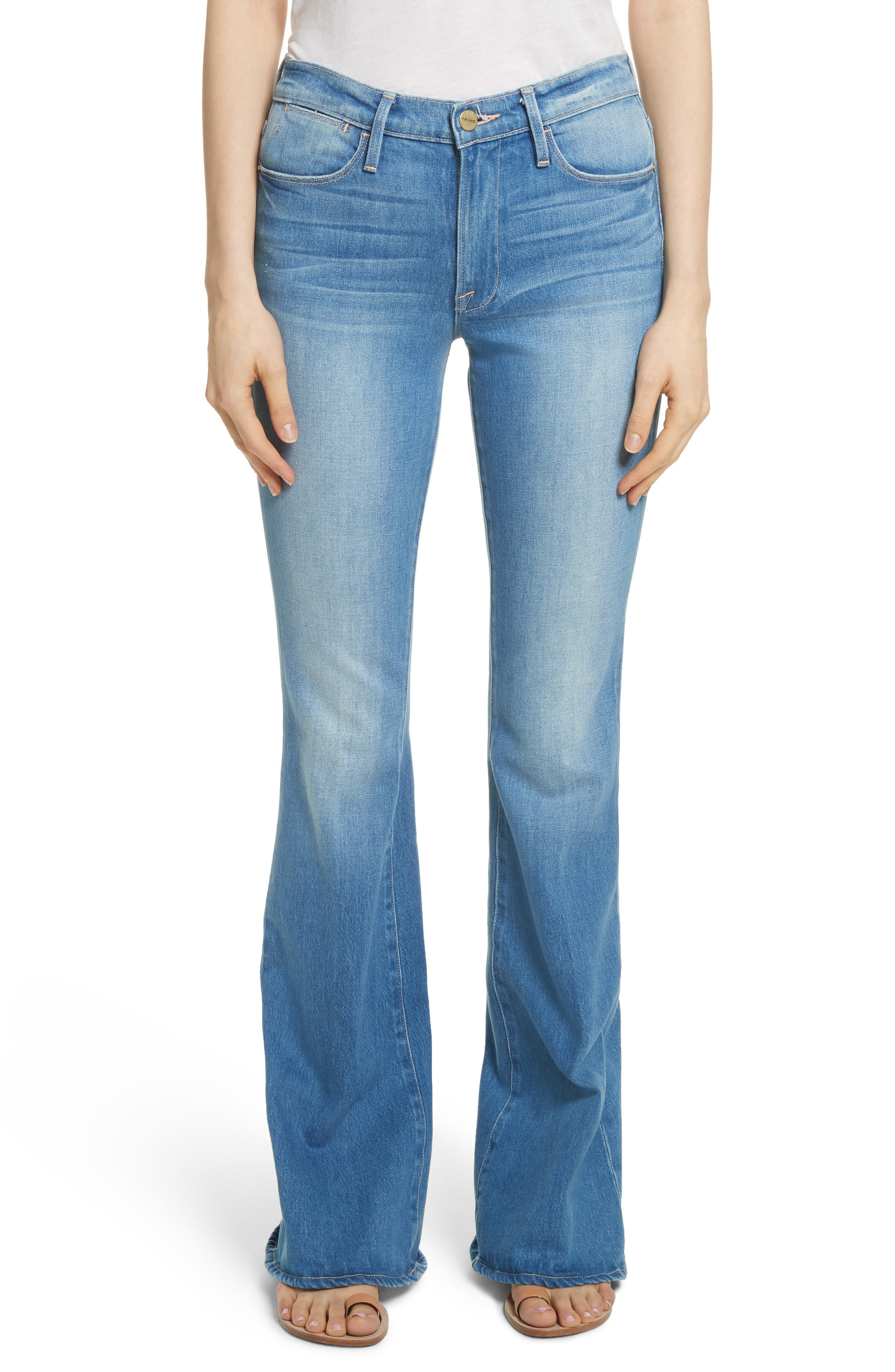 Le High Flare Jeans,                         Main,                         color, BRIGHTWALTON